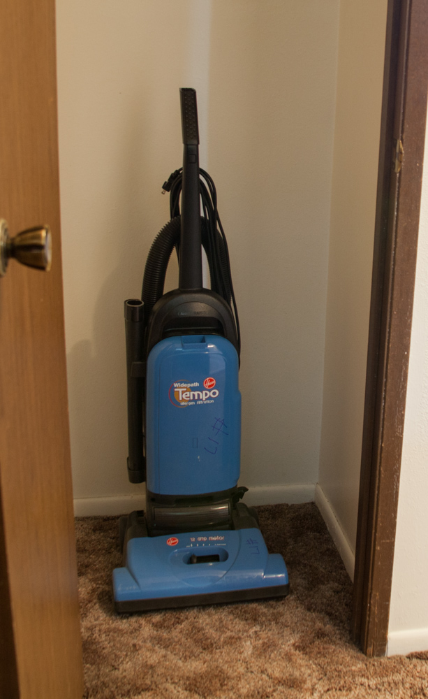 Vacuum provided in every apartment