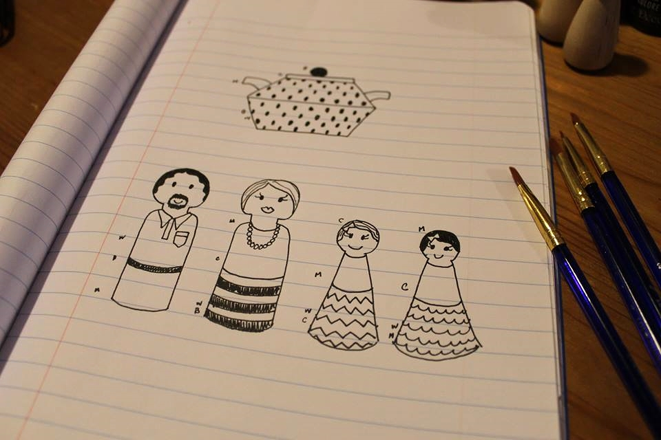 SSDC - DIY Wooden Doll Family 2