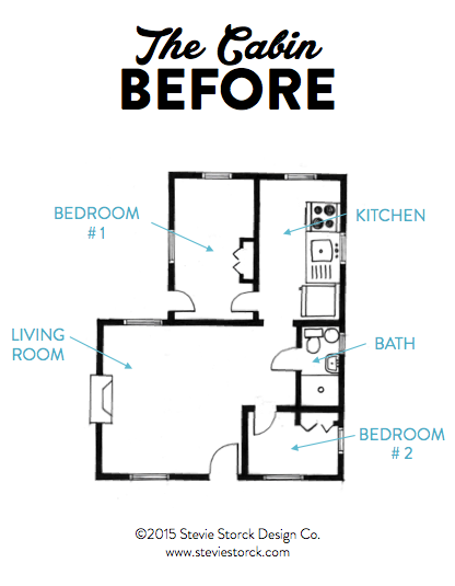 SSDC The Cabin Floor plan Before