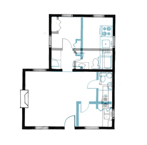 Cabin Floor Plan Old vs New
