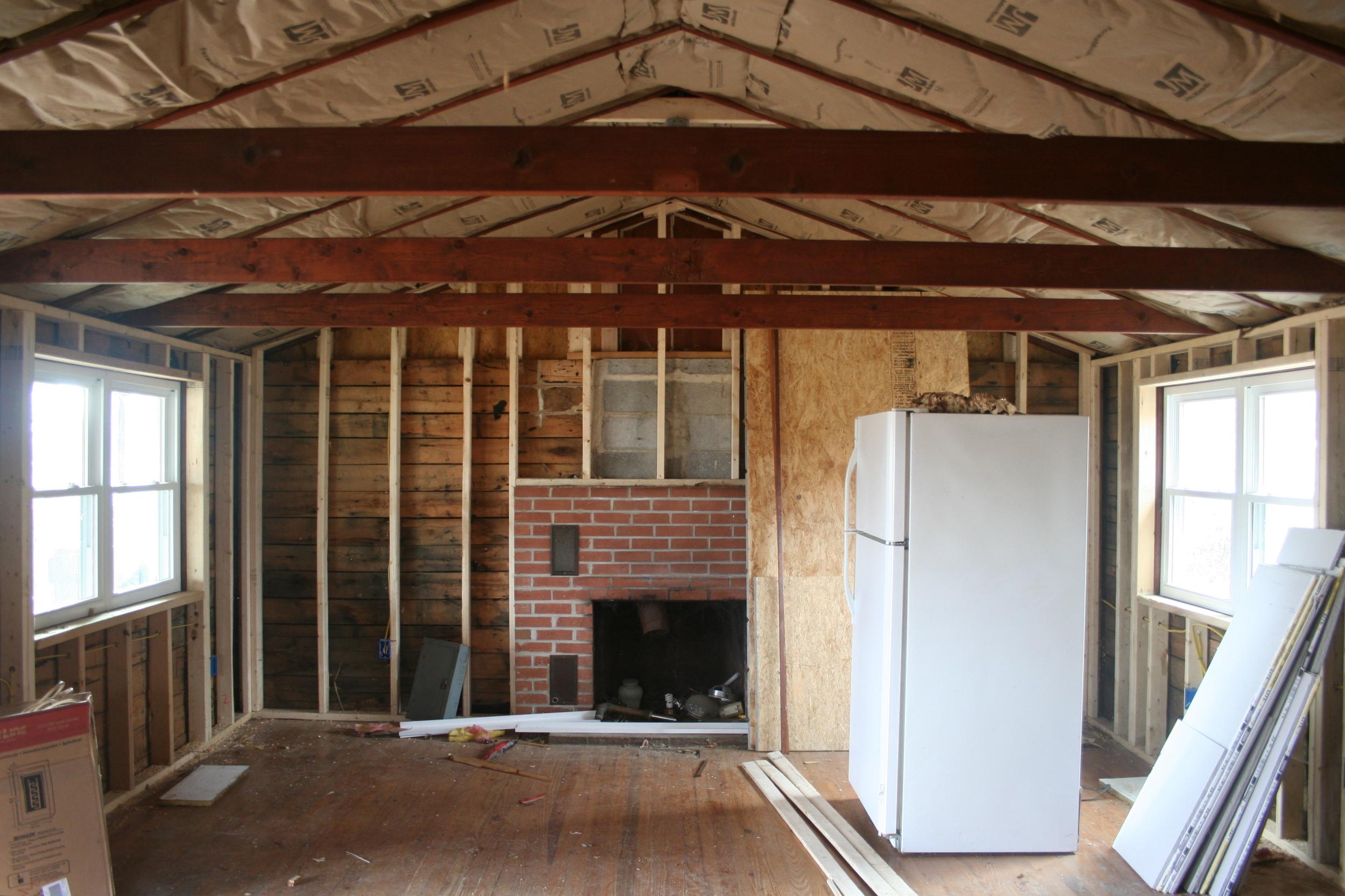 The living room. Loving the symmetry!