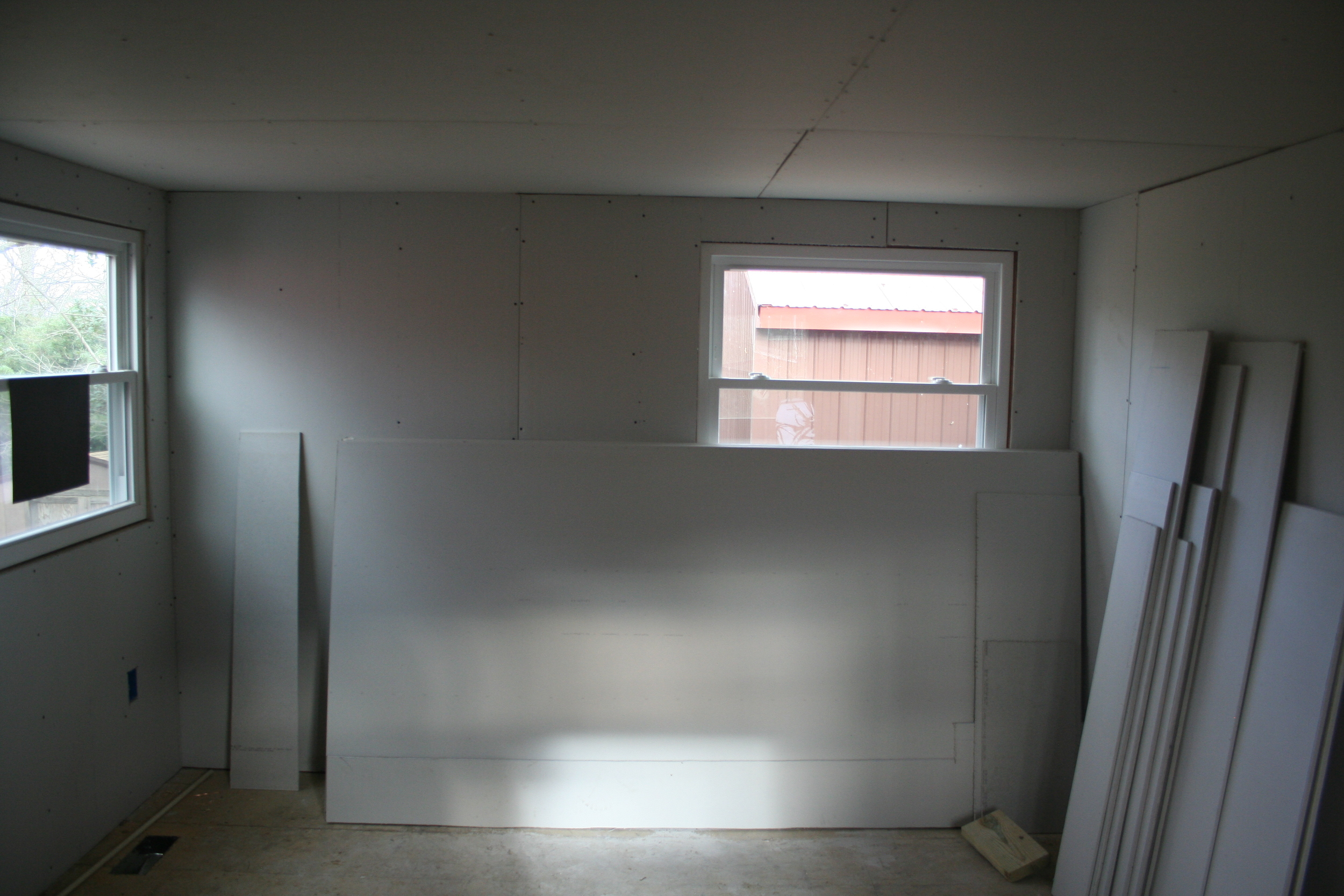 View of the bedroom, as if you're standing with your back to the closet.