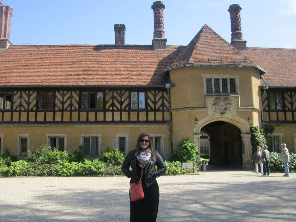 Stevie Storck at Schloss Cecilienhof in Potsdam, Germany