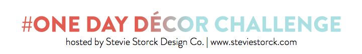 One Day Decor Challenge - Stevie Storck Design Co.