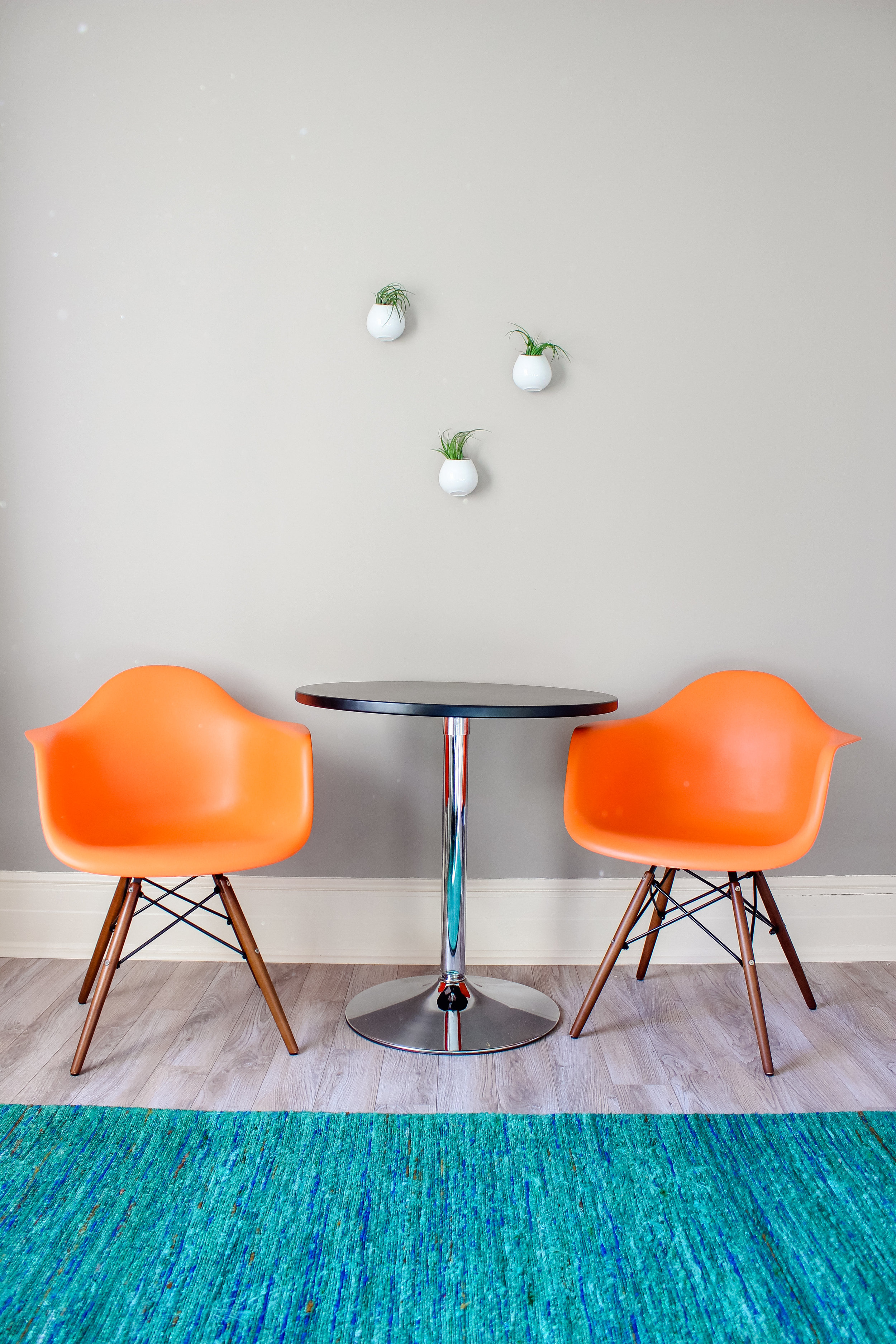 Colorful, modern apartment decor inspiration from a historic 1 bedroom turned Airbnb!
