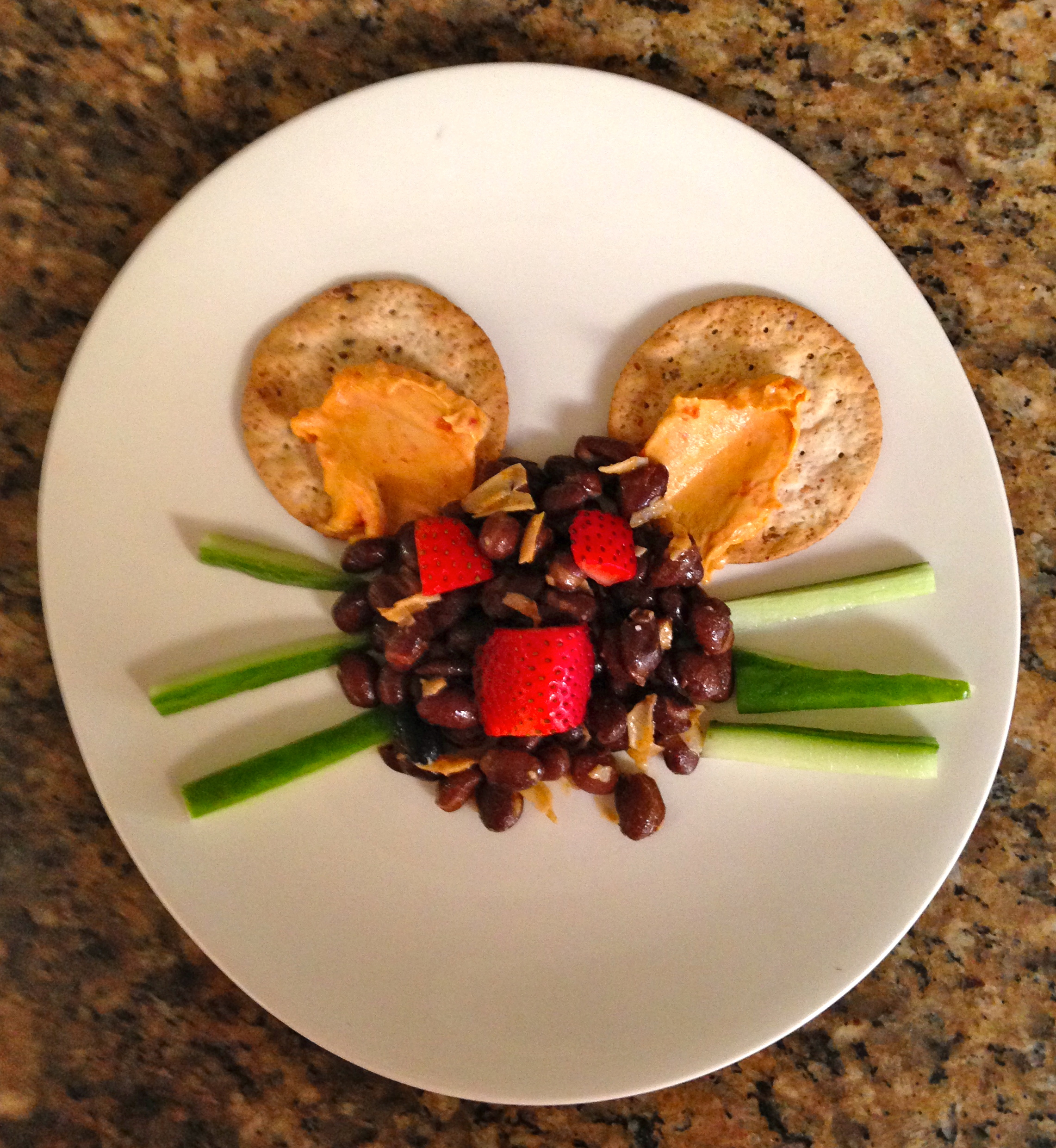 Sarah's Saltiegets the cutest plate ever award for her Alliyum and black beans.