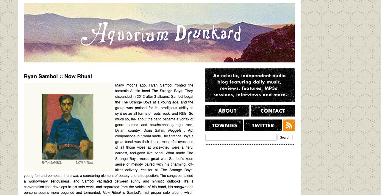 Aquarium Drunkard, 12/3/15