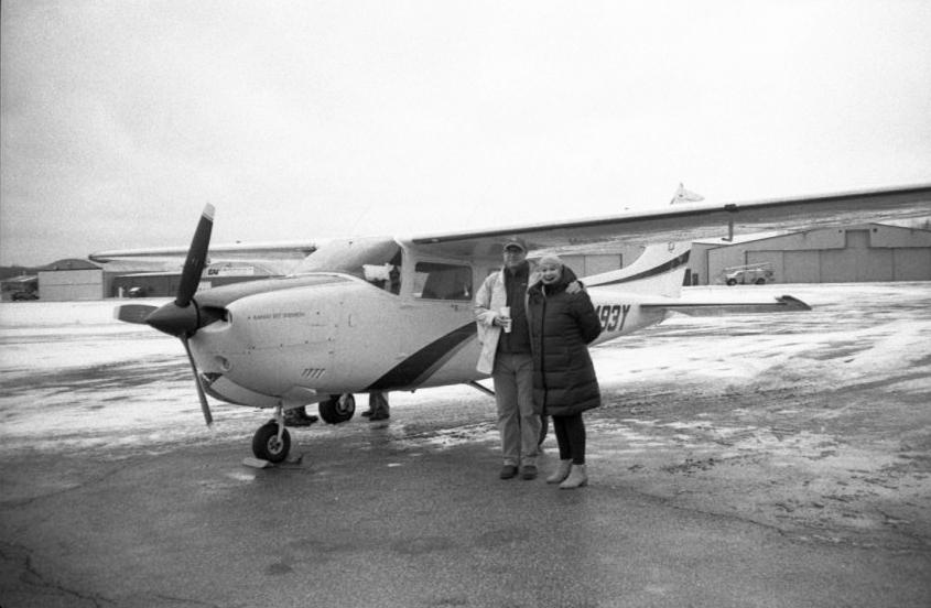 Her first Angel Flight, Erie