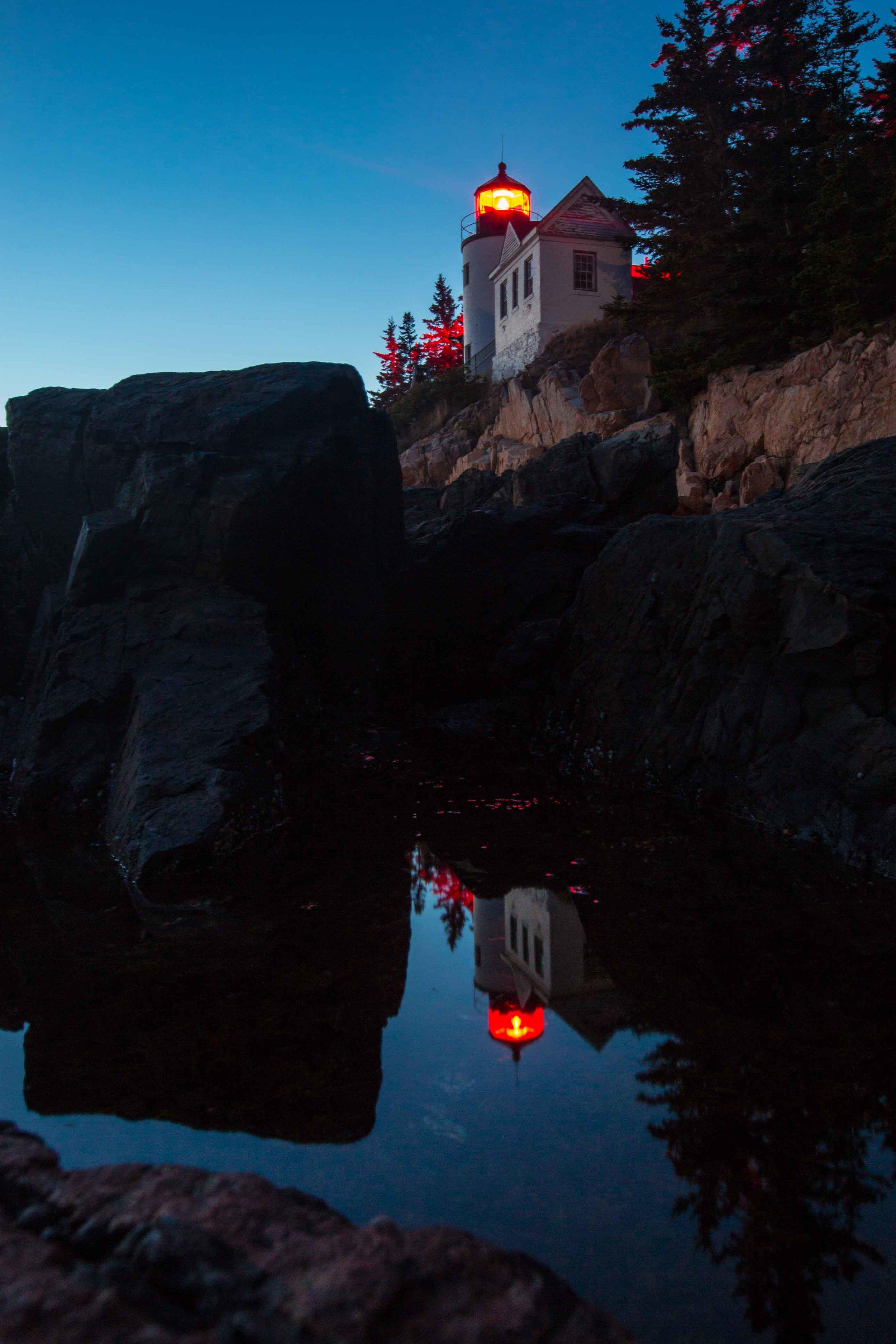 Bass Harbor Reflection ISO 1000 / 27mm / f11 / 30 sec