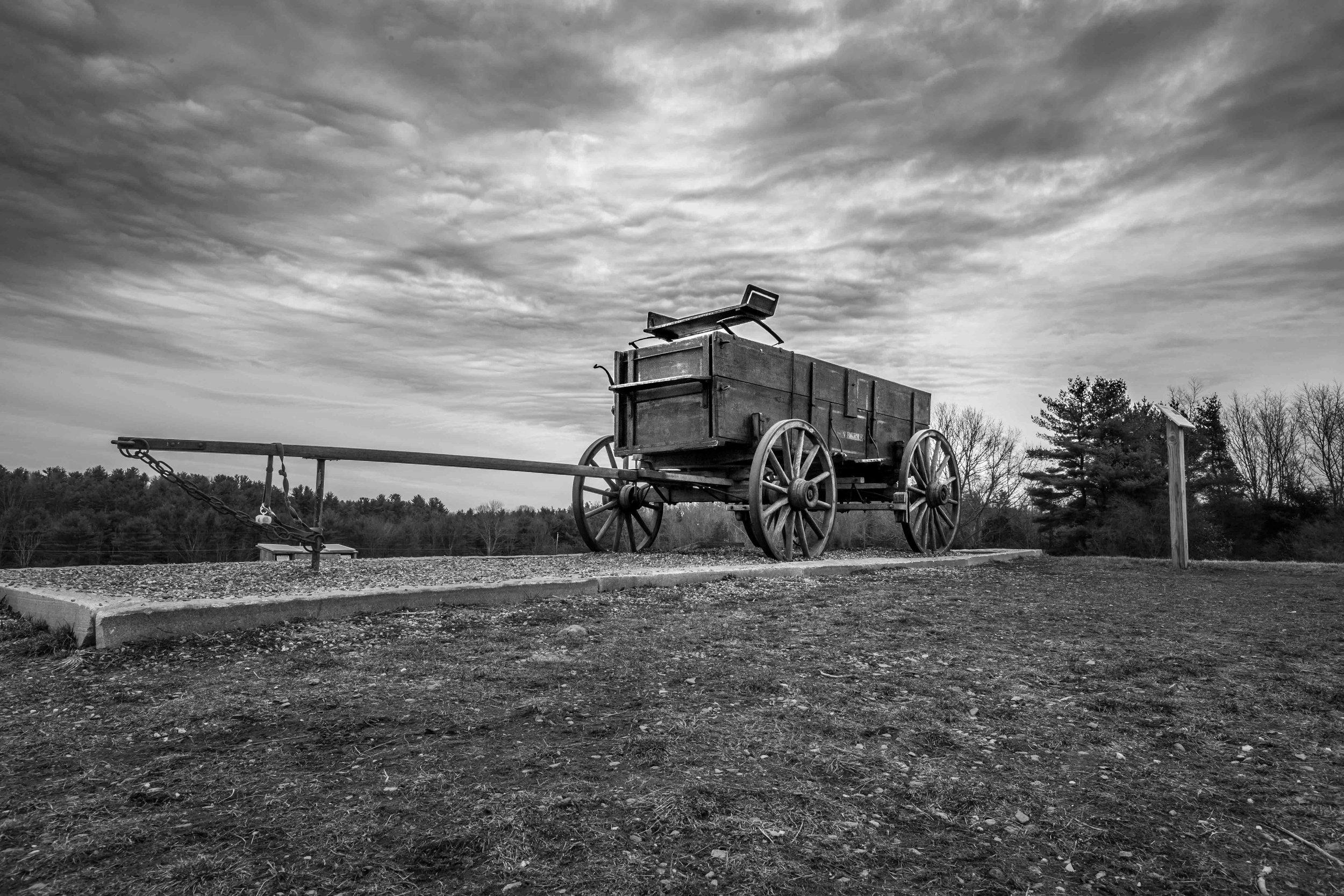 Durham Wagon Black & White 3.31.2018 ISO 100 - f18 - 1/8 sec