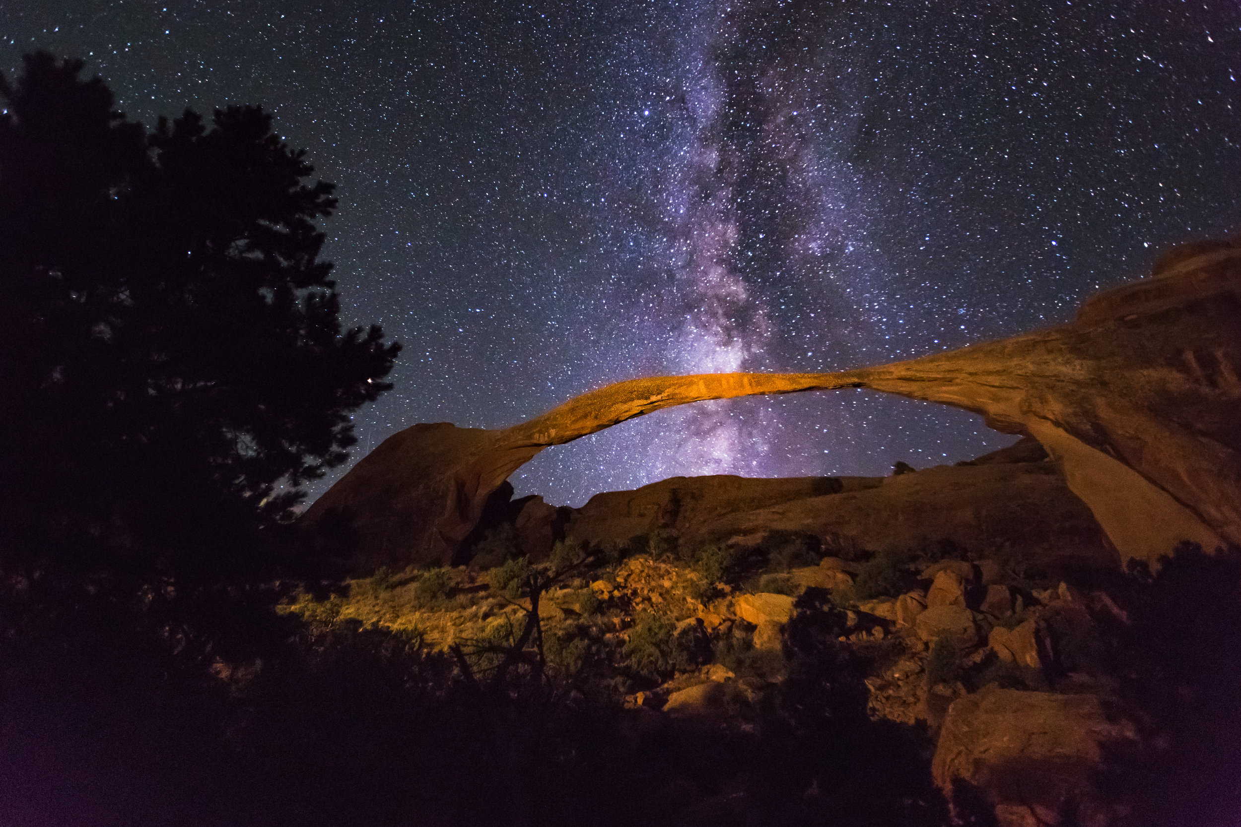 Milky Way Over Landscape Arch