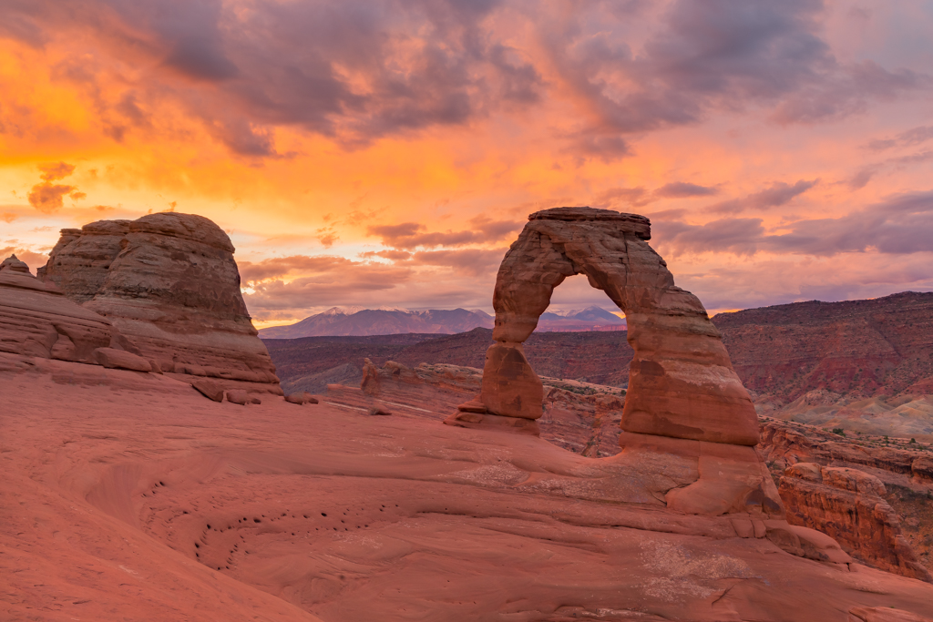 Sunrise at Delicate Arch Oct 5, 2018 ISO 50 - f11 - 1/125 sec
