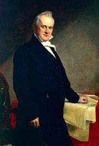 James Buchanan, 15th President of the United States.  President Buchanan served during the period leading up to the Civil War, from 1857–1861.  (By George Peter Alexander Healy, 1859. National Portrait Gallery, Smithsonian Institution; http://americanhistory.si.edu/presidency/timeline/pres_era/3_676.html)