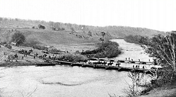 The Army of the Potomac crossing the Rapidan river.