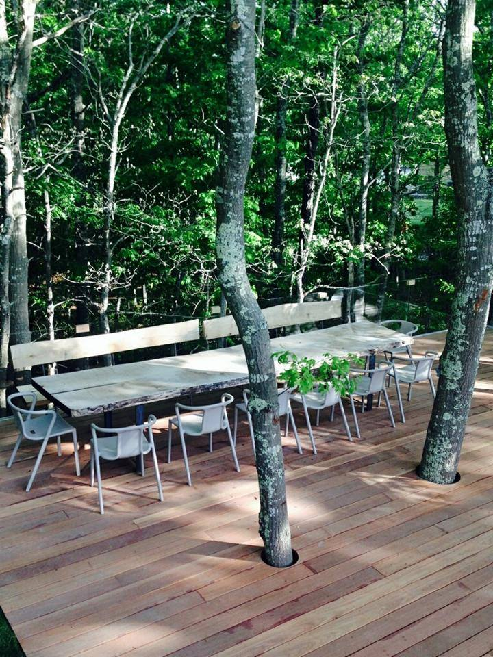 Walnut Table and Hickory Benches
