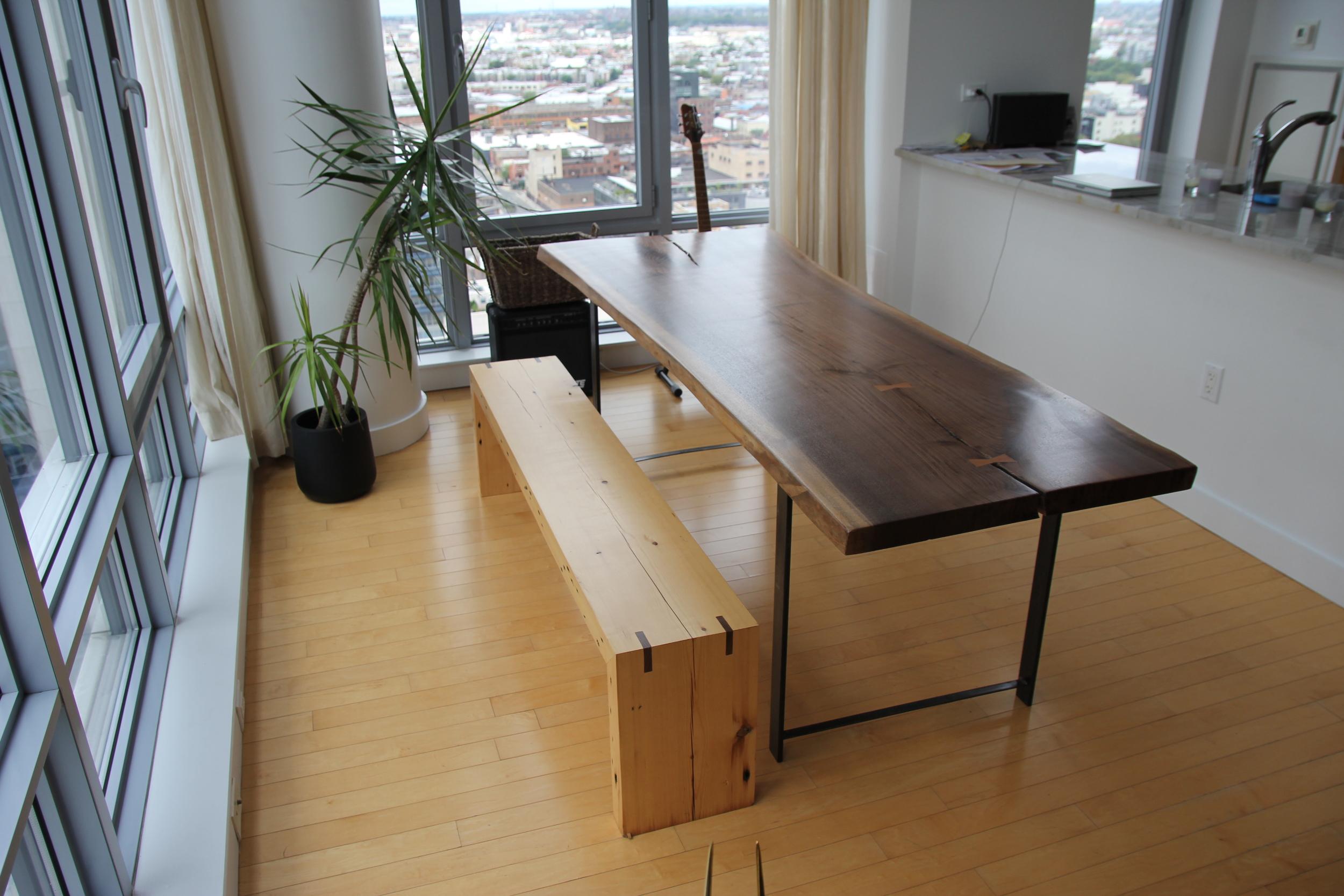 Walnut Table and Douglas Fir Bench
