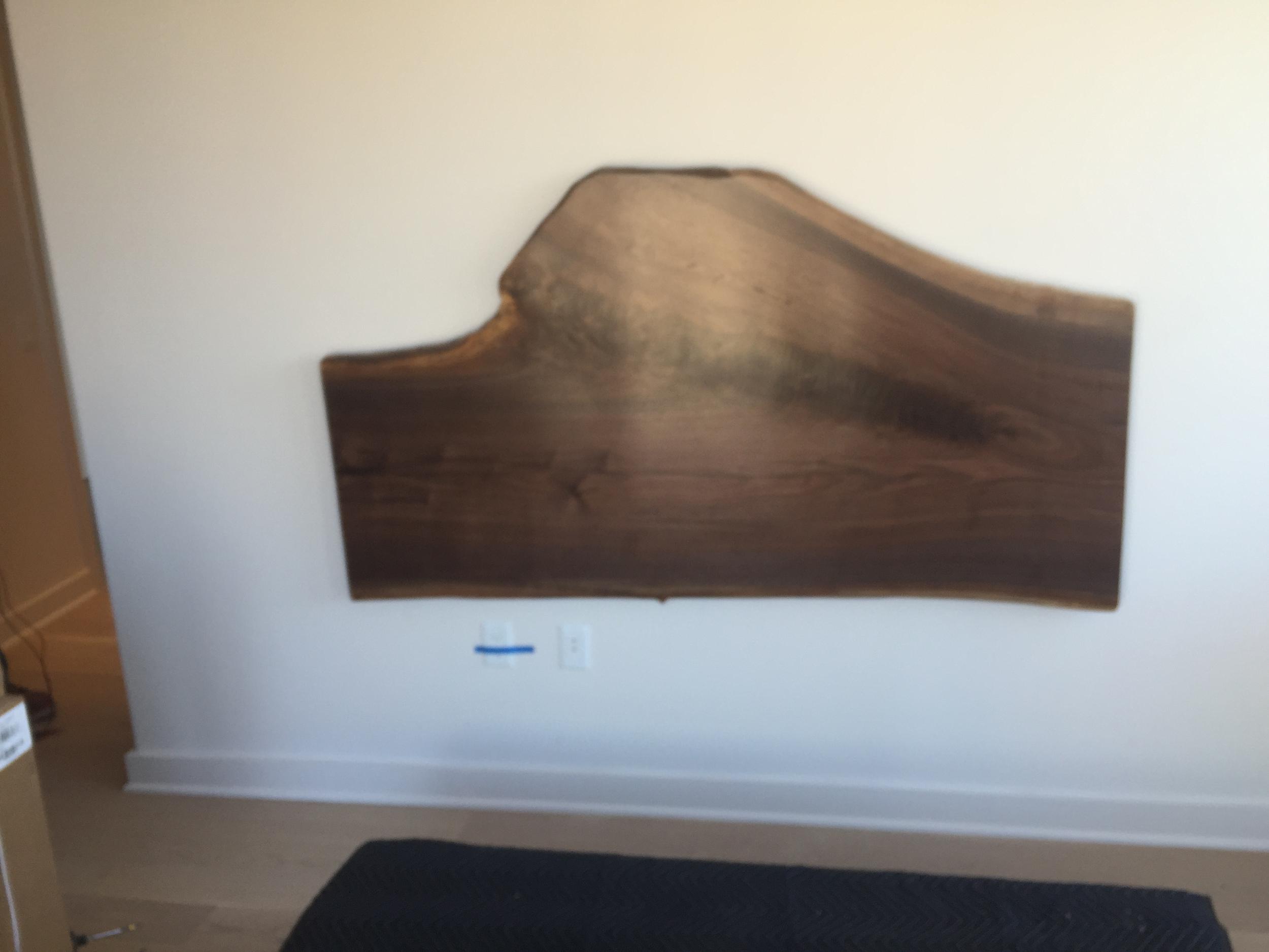 Walnut Head Board