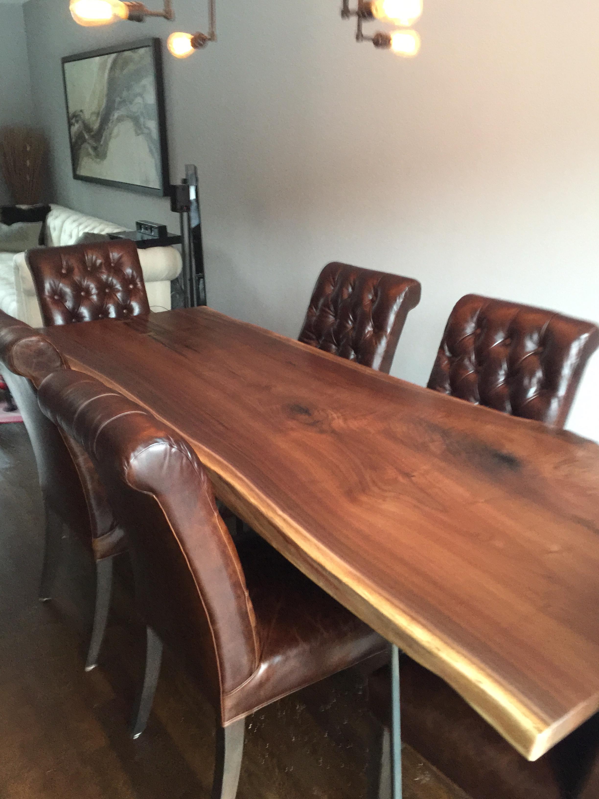 Single-Slab Walnut Dining Table