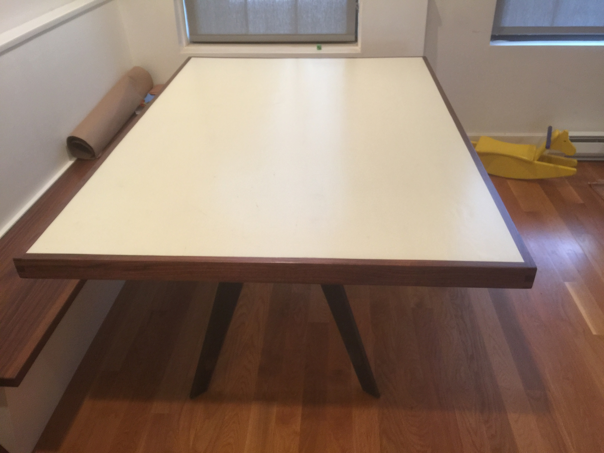 Southern Yellow Pine Table with Walnut Border