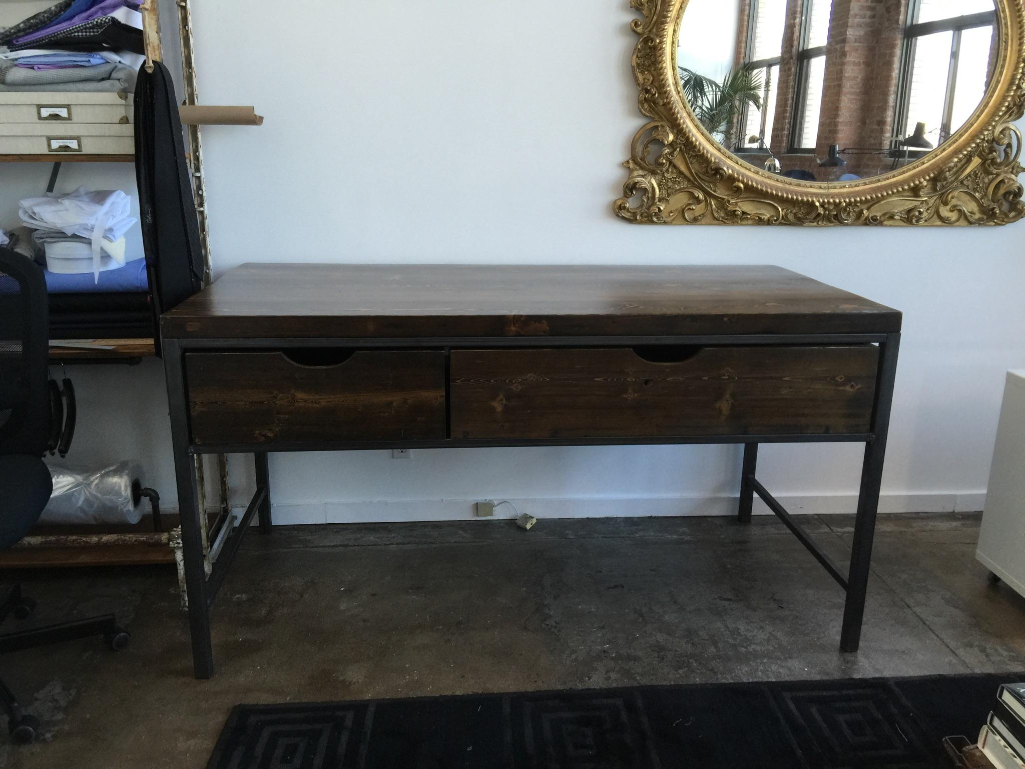 Stained White Pine Tailor's Table
