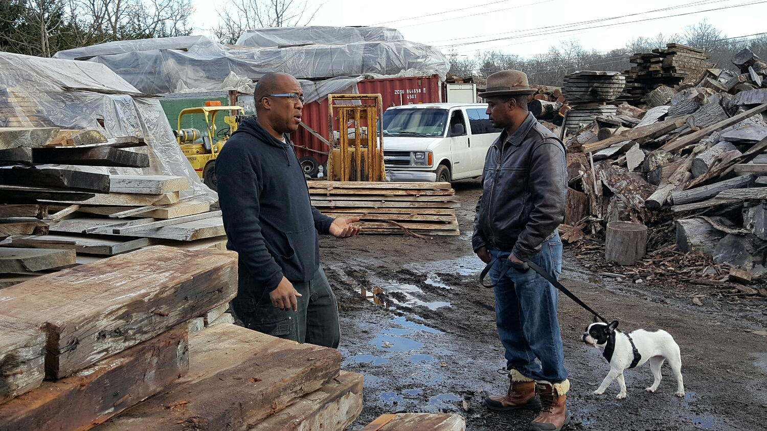 Discussing wood for a table project