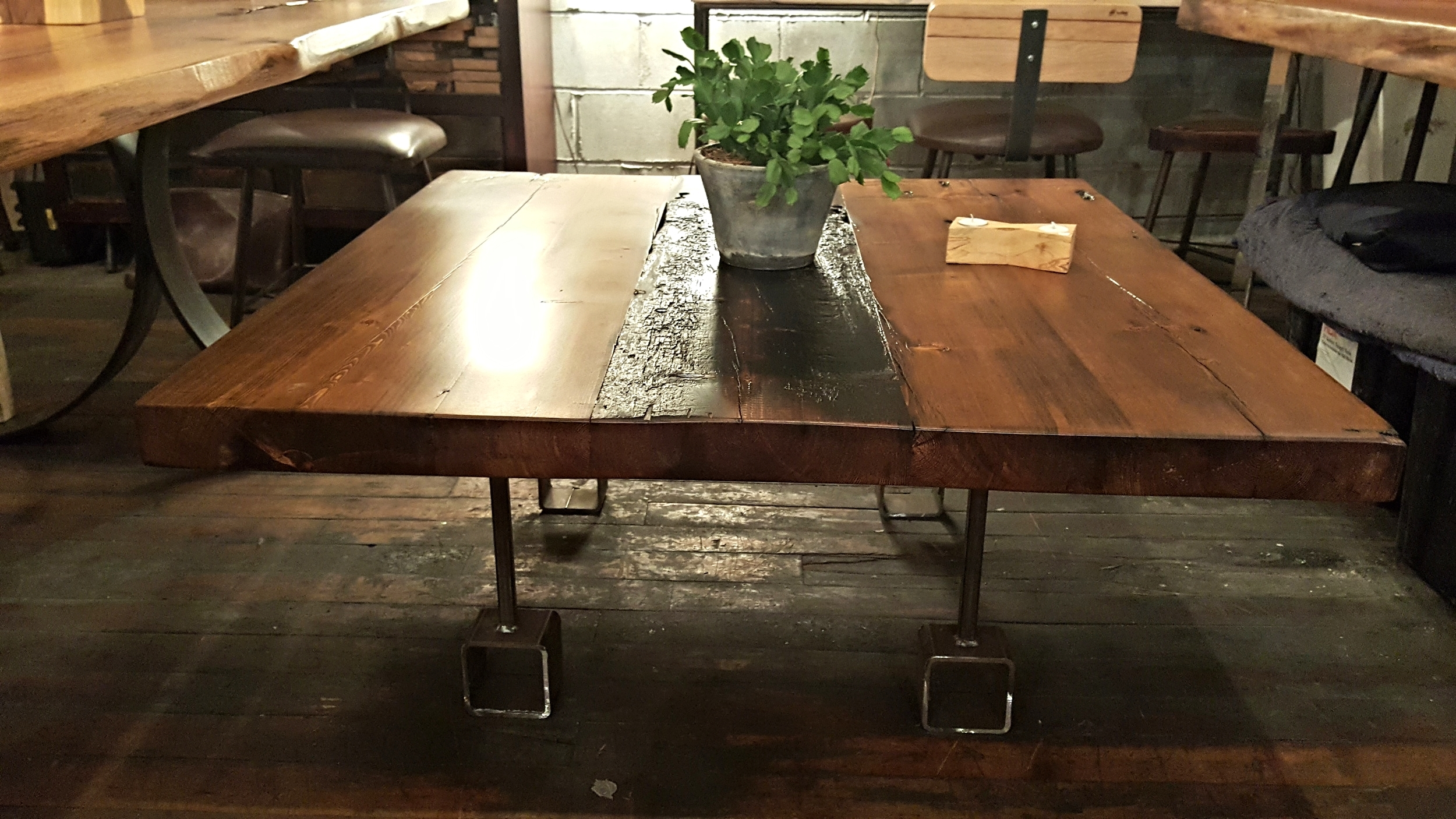 Distressed Reclaimed Wood Coffee Table