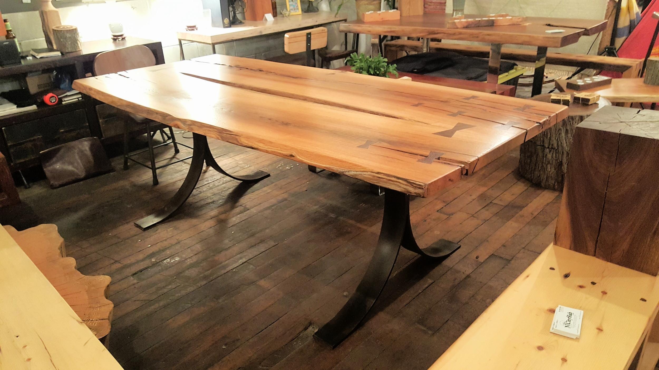 Super Storm Sandy Red Oak Table