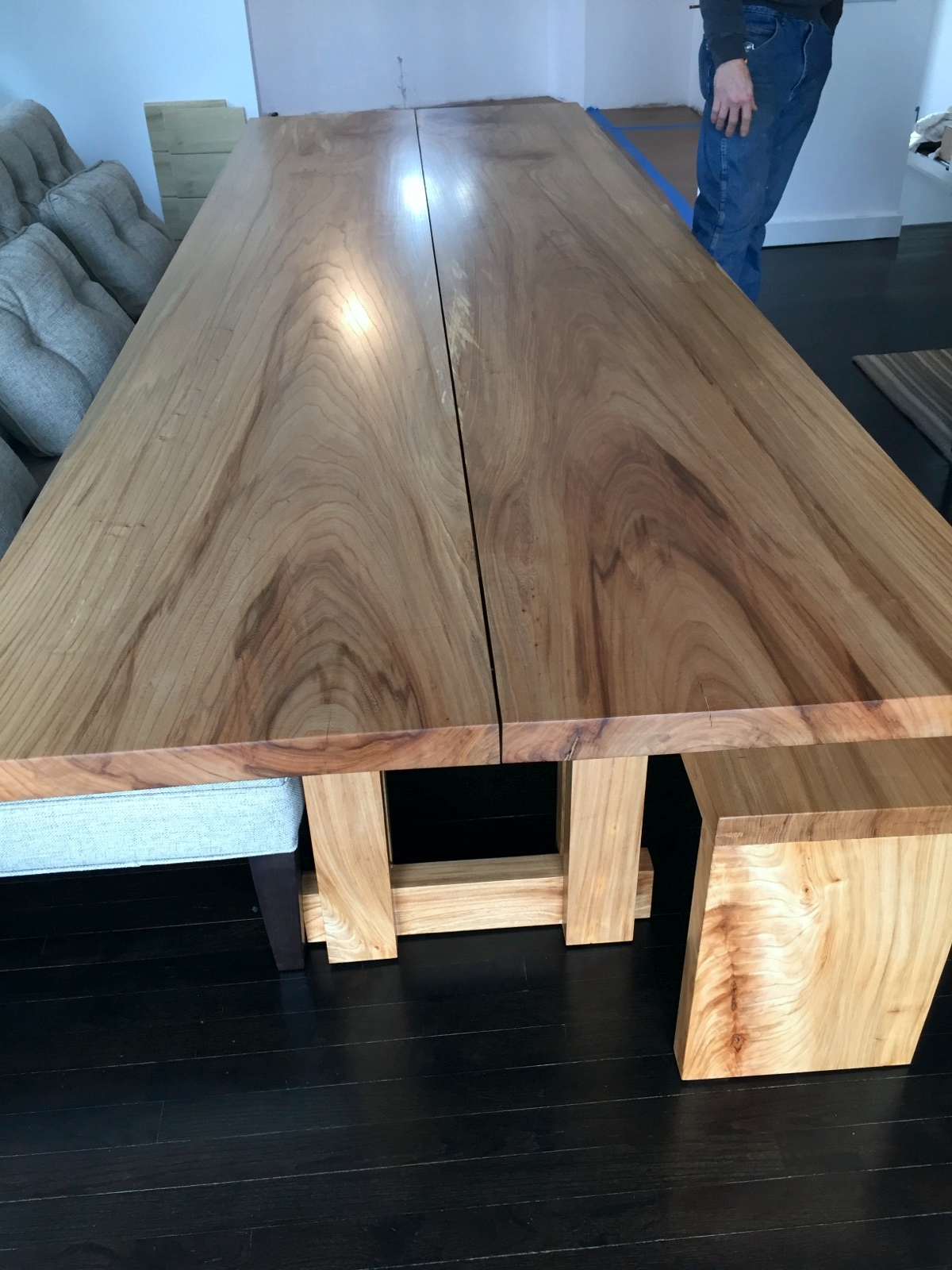 Elm Table and Bench
