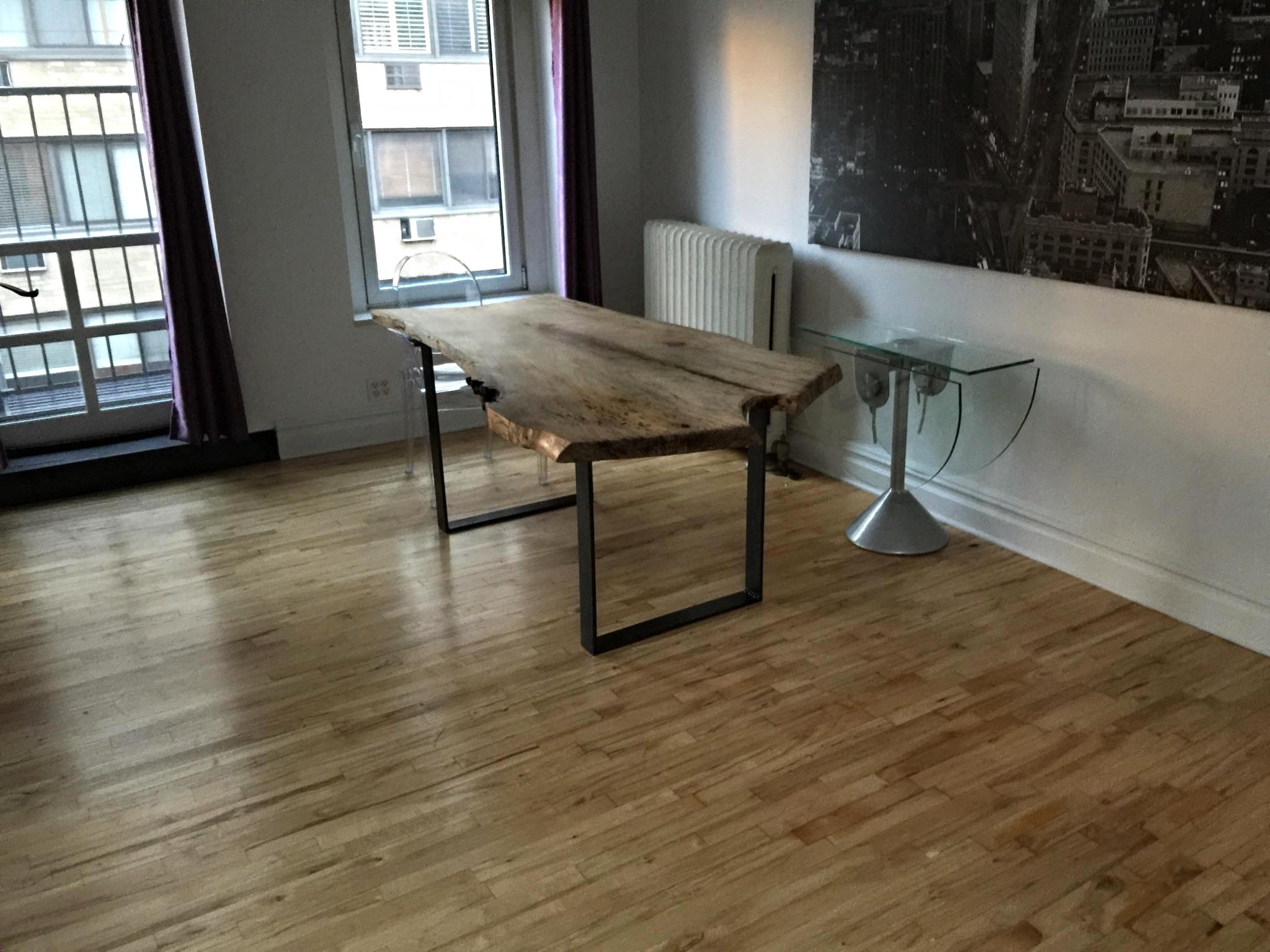 Slab Table with Custom Base