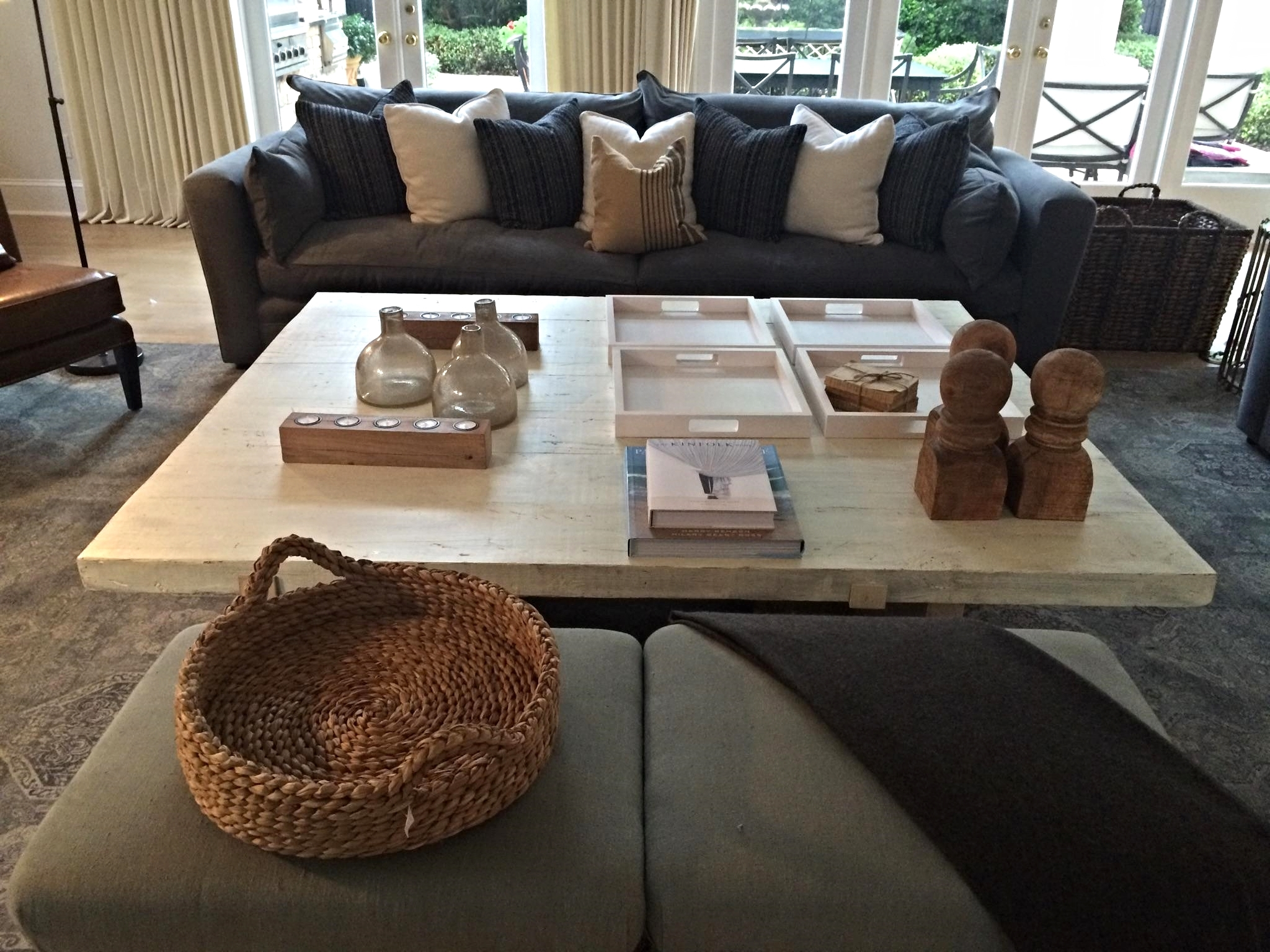 Rustic Antique White Pine Coffee Table