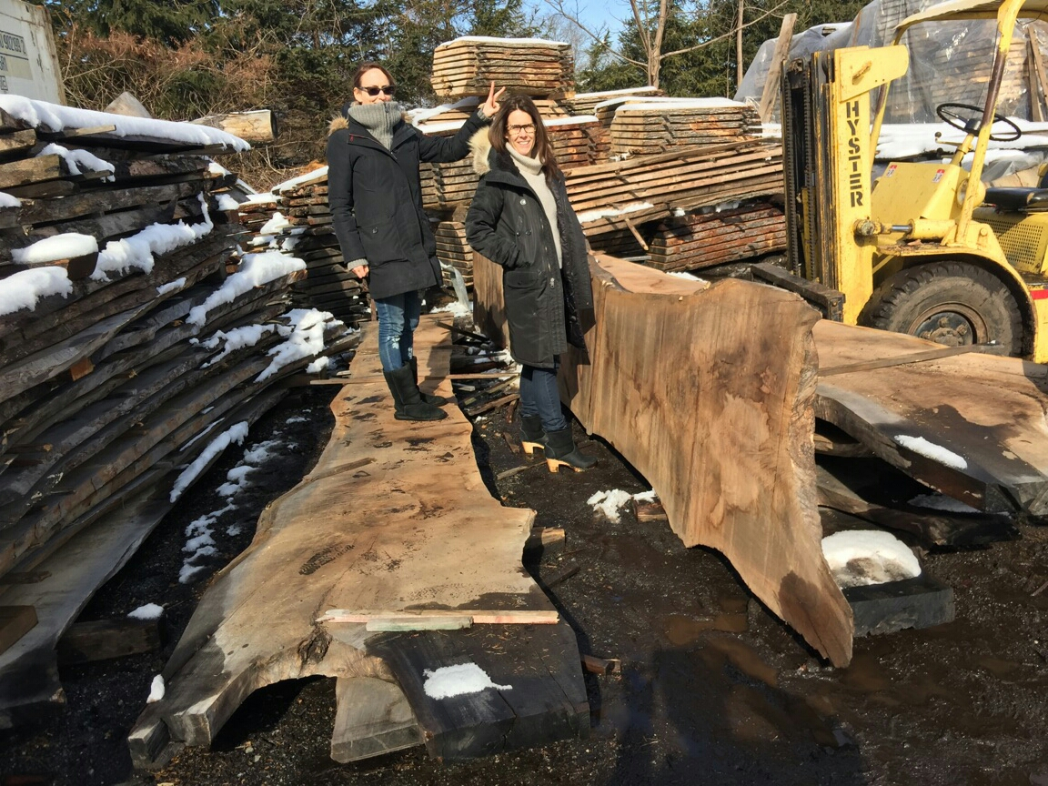 """Looking for the perfect slab to create the perfect headboard out of a 17'x38"""" walnut slab from interlaken Ny."""