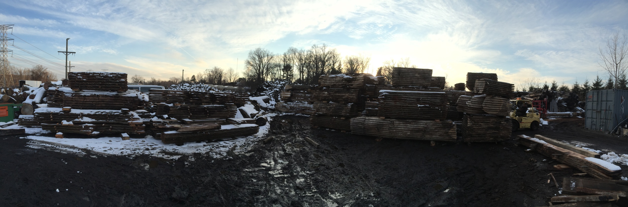 Pano view of this space we are stacking slabs.