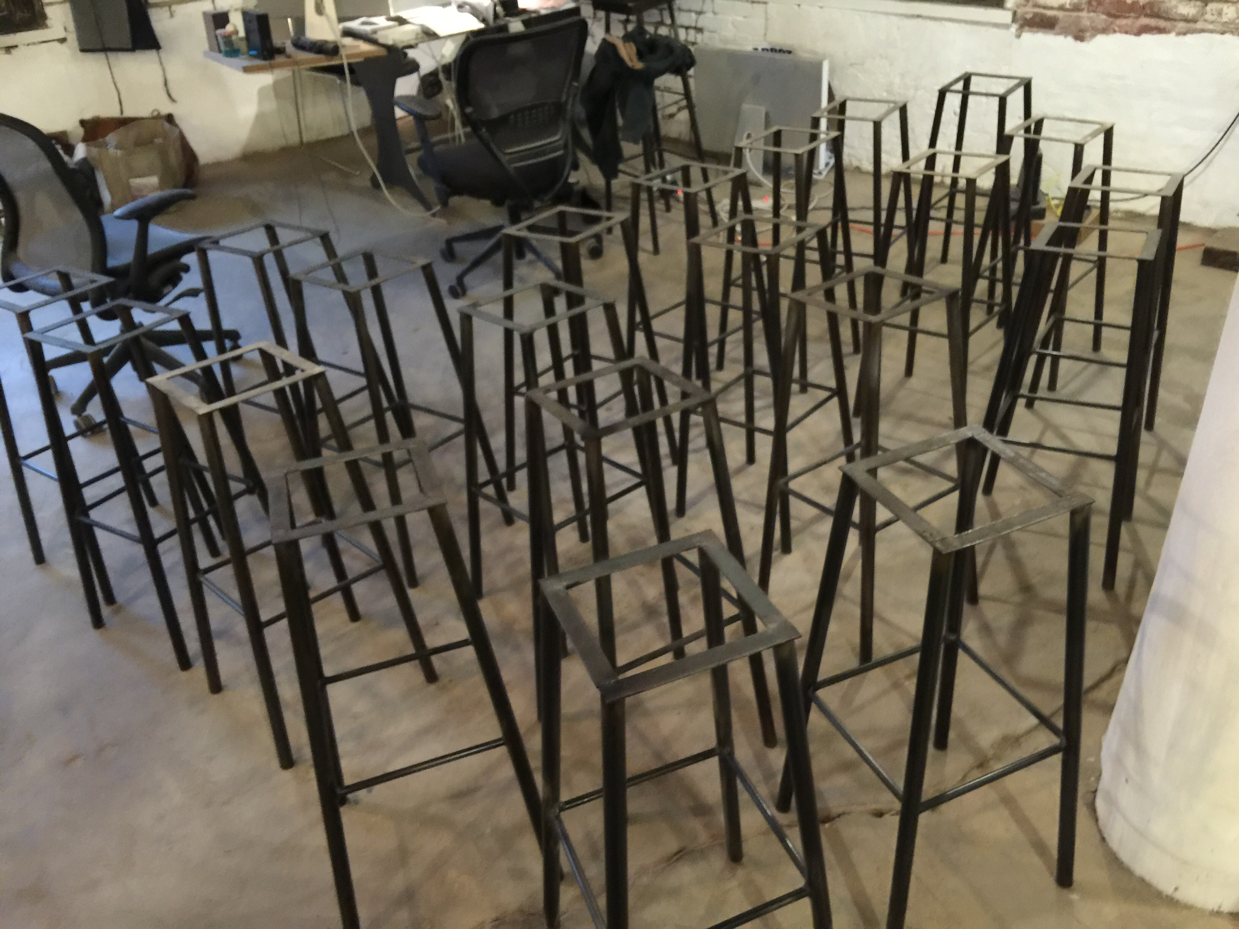 32 stools for a restaurant in Brooklyn