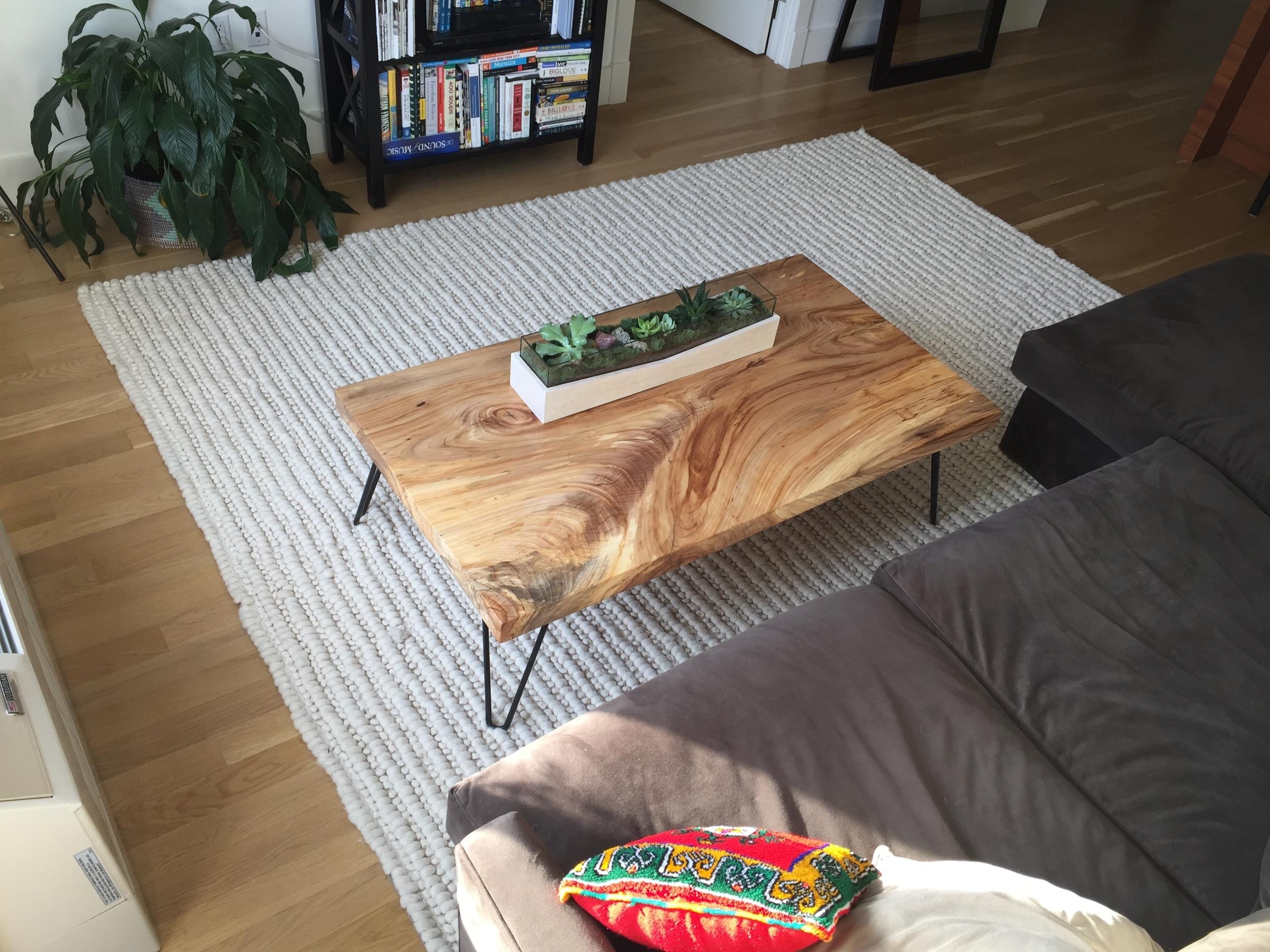 Straight Edge Elm Coffee Table