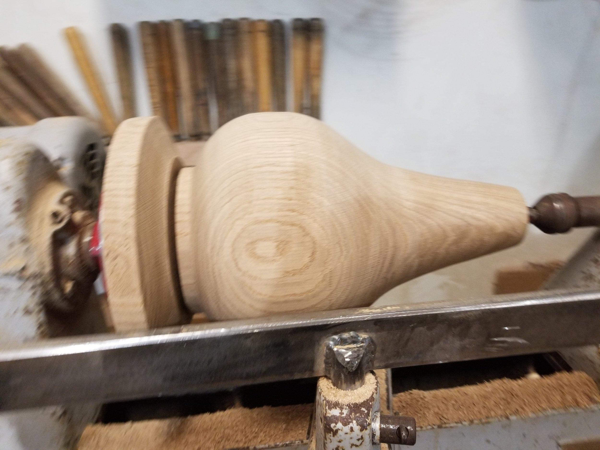 Unfinished Pedestal Table Leg