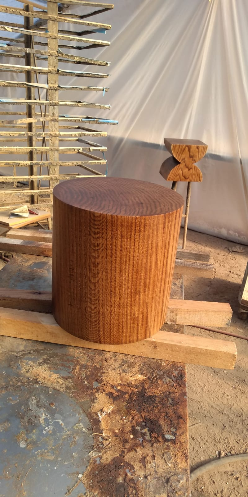 Finished Oak Stump