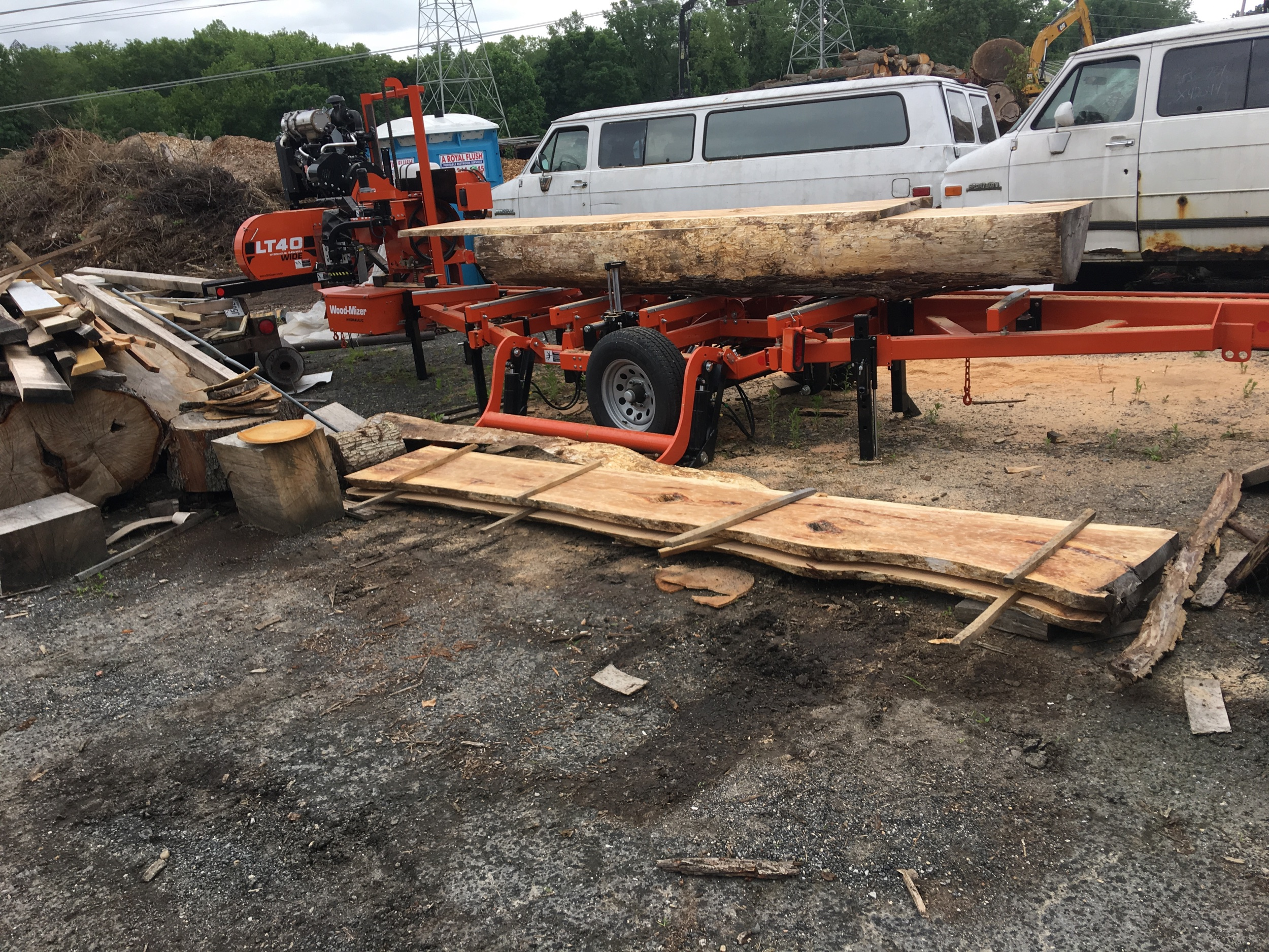 "Woodmizer LT40 Wide can cut 34"" boards"