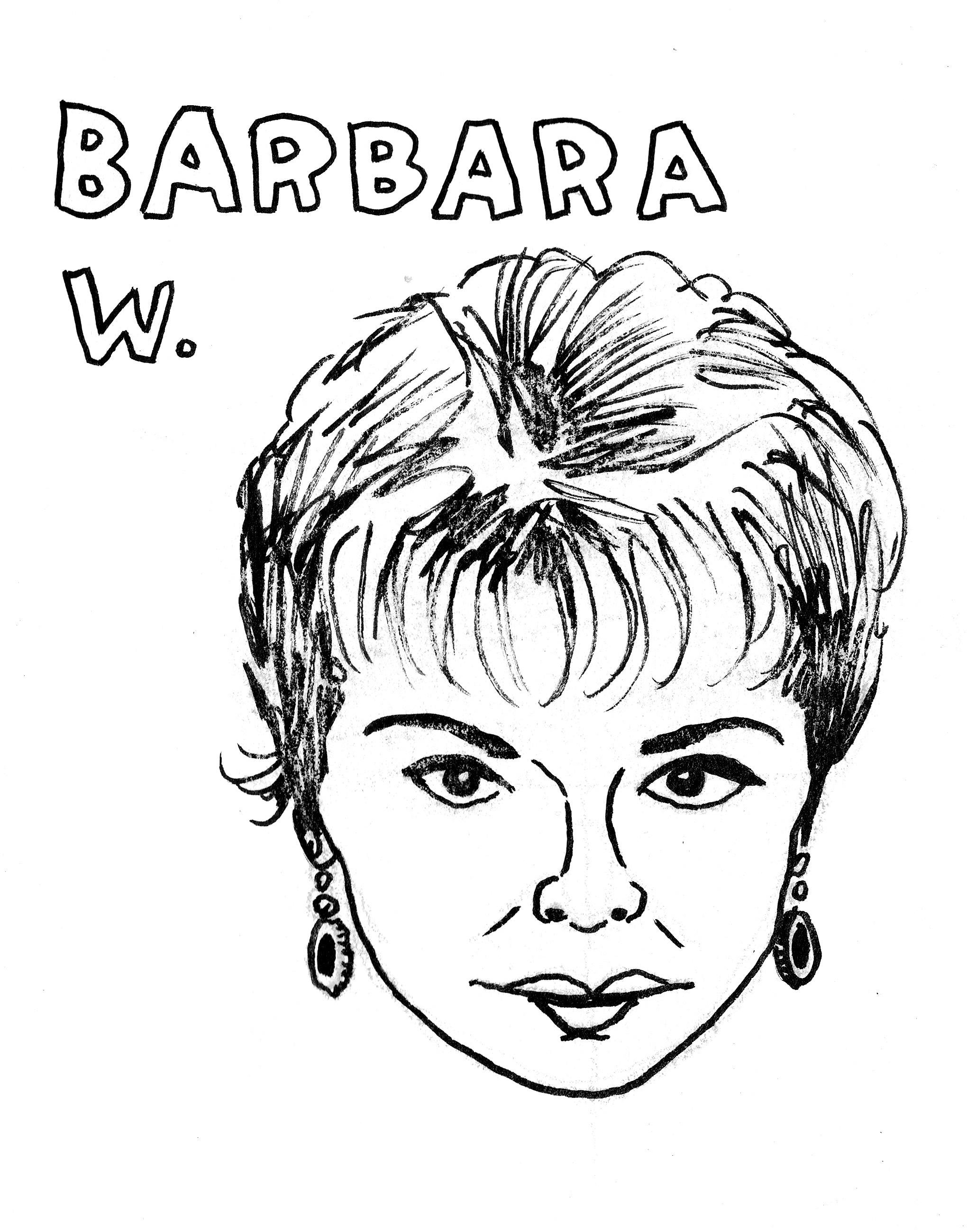 Barbara W, ink, 2013