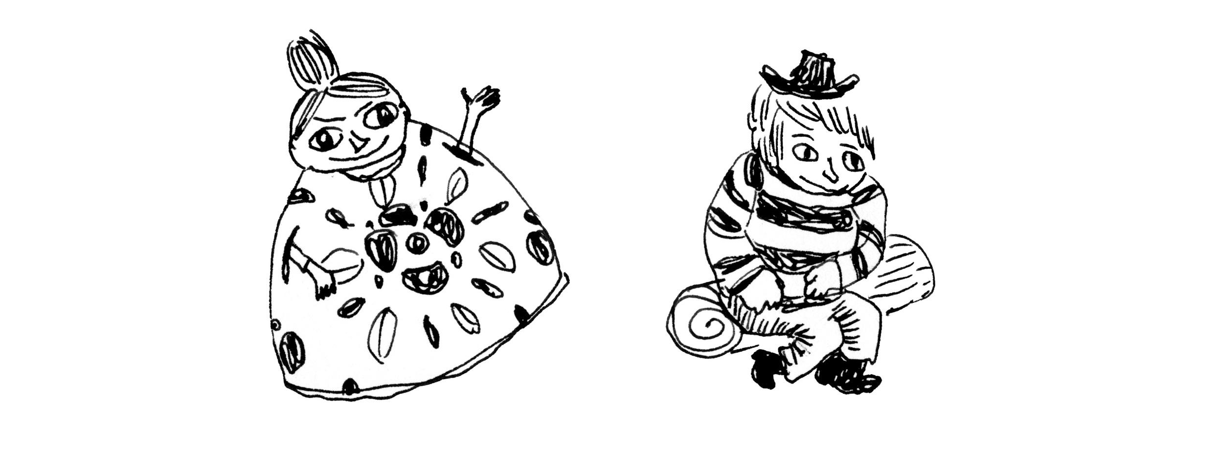 Bootleg Moomins, ink, 2014