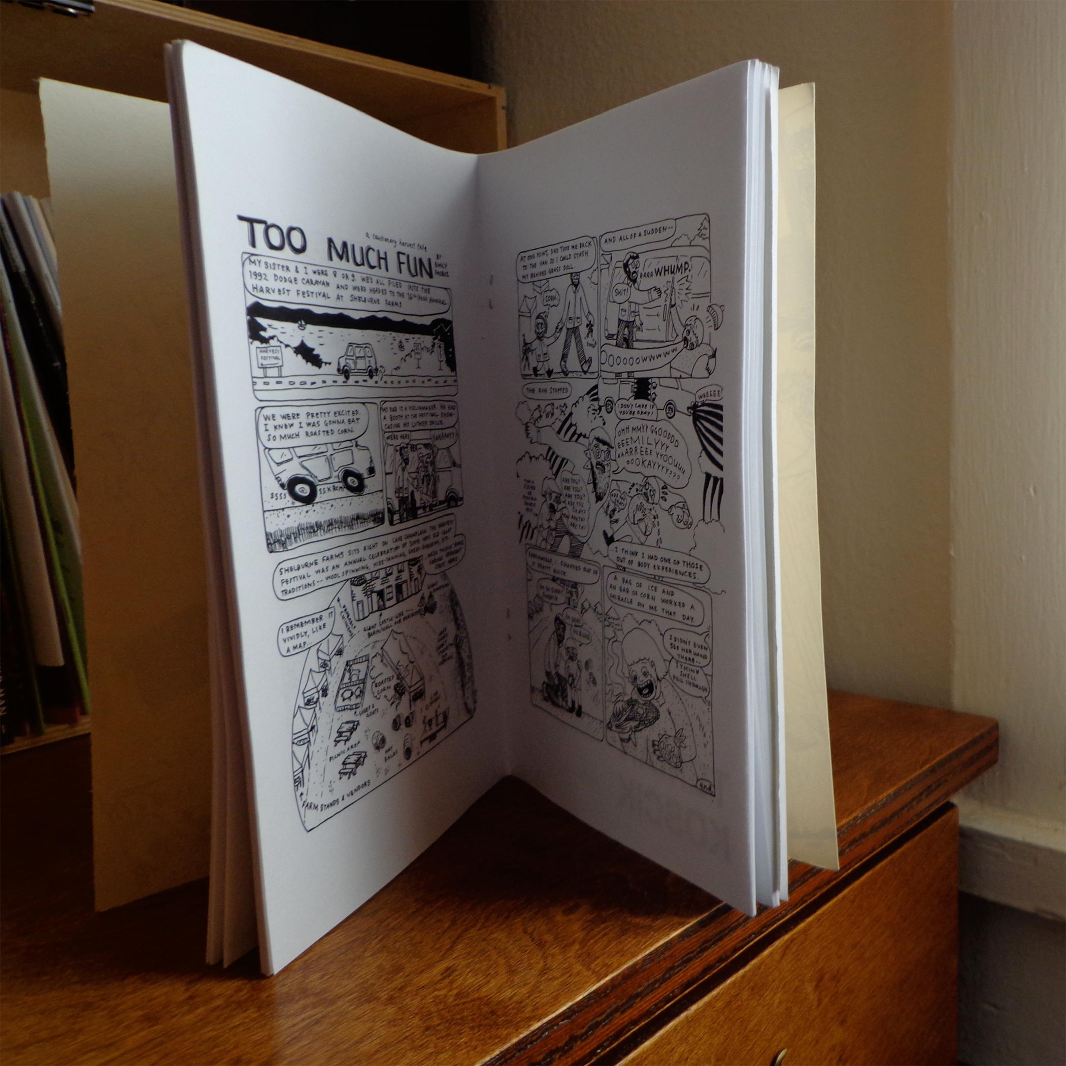 IPRC Comics Certificate Program 2012-2013 comix anthology (detail), b&w, 32 pages