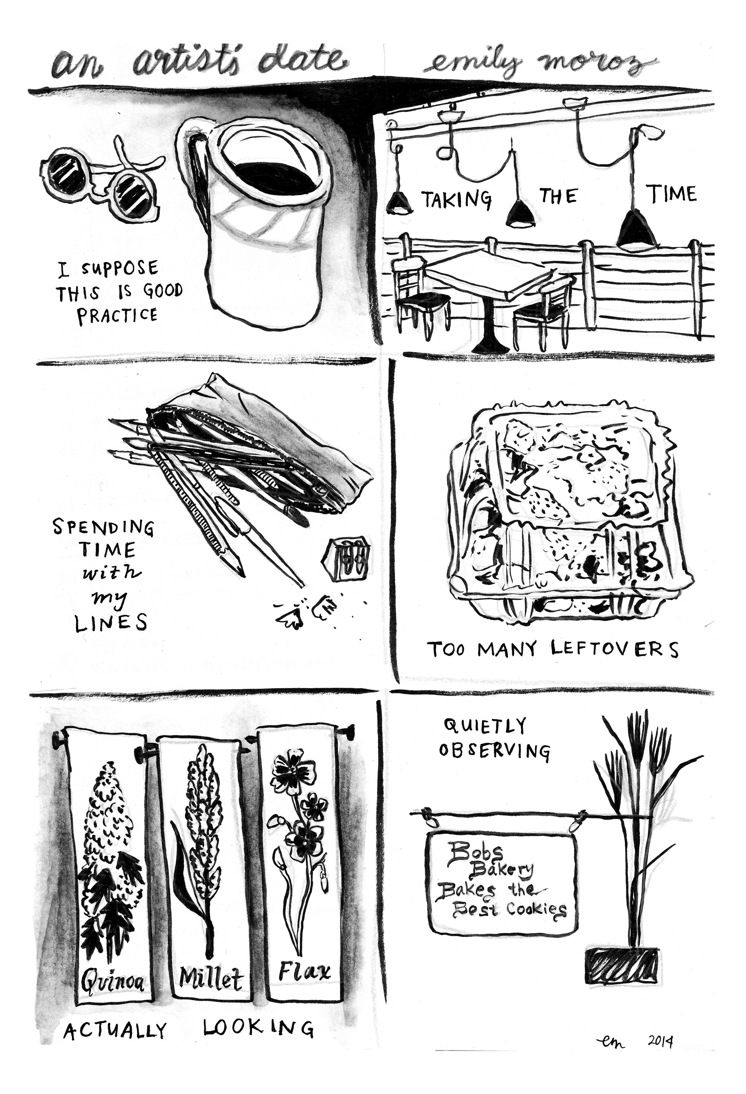 An Artist's Date , 2014