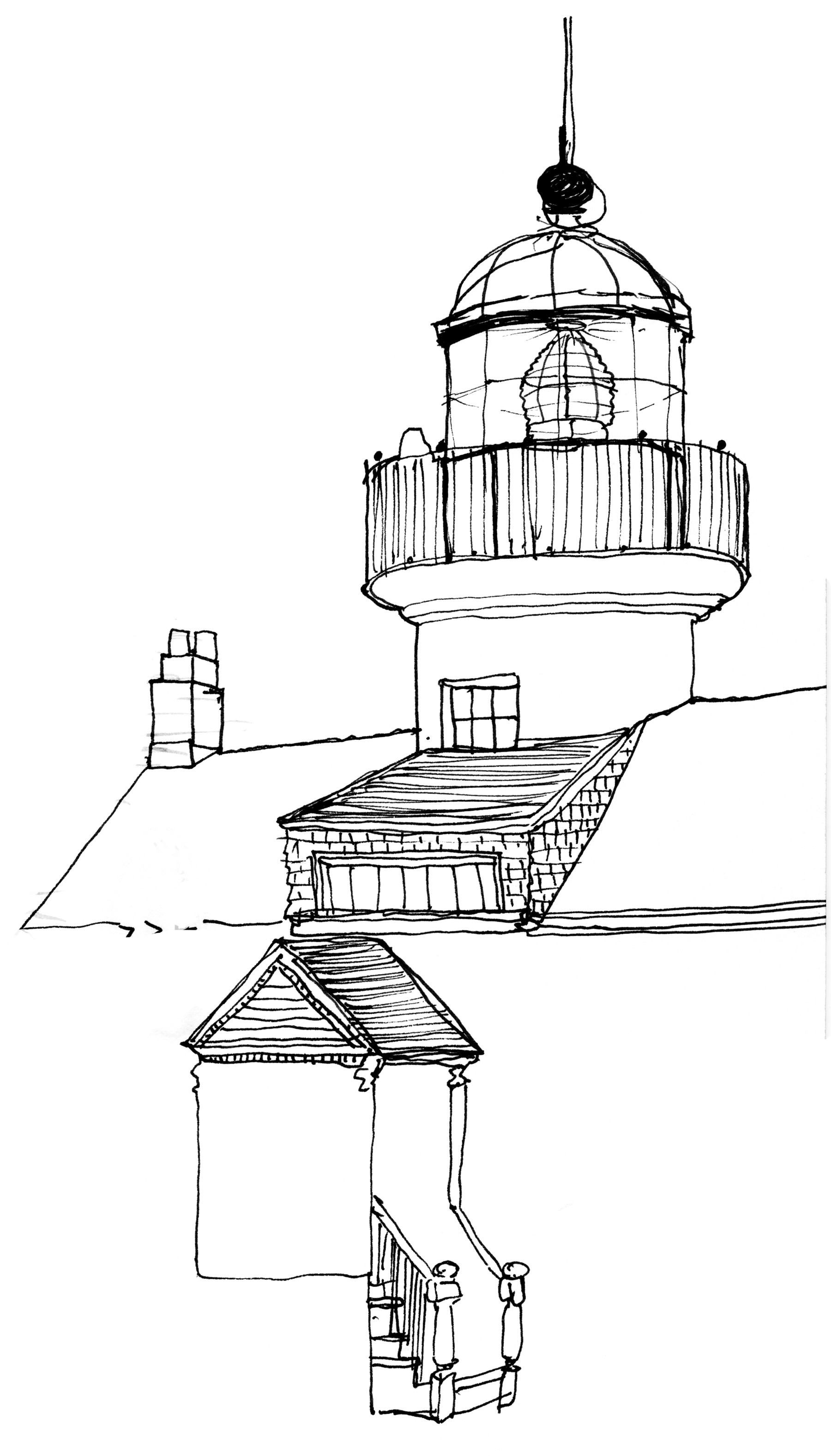 Lighthouse, ink, 2014