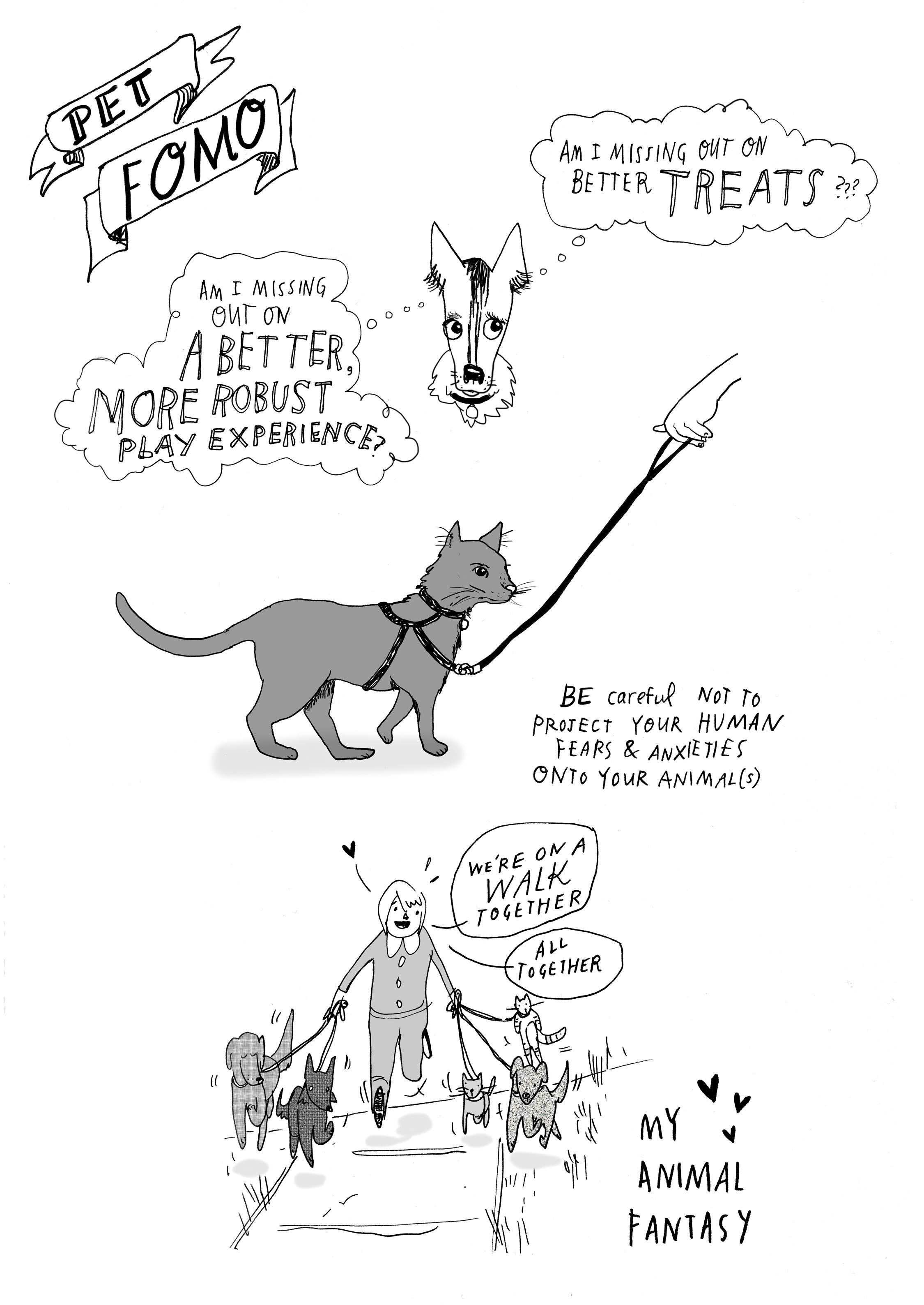 Pet Fomo , ink and digital, 2014