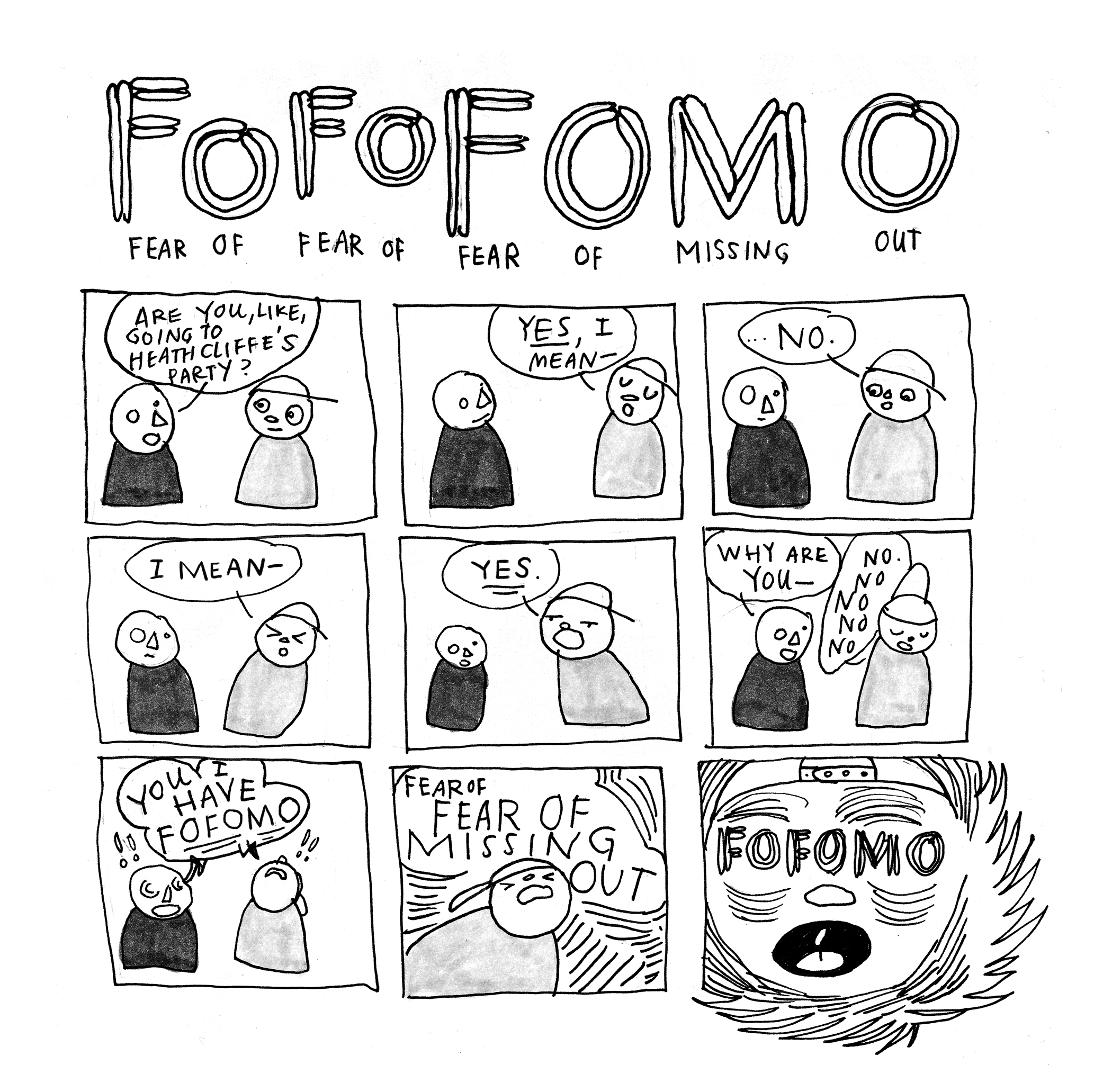FoFoFomo , ink and water-soluble graphite, 2014