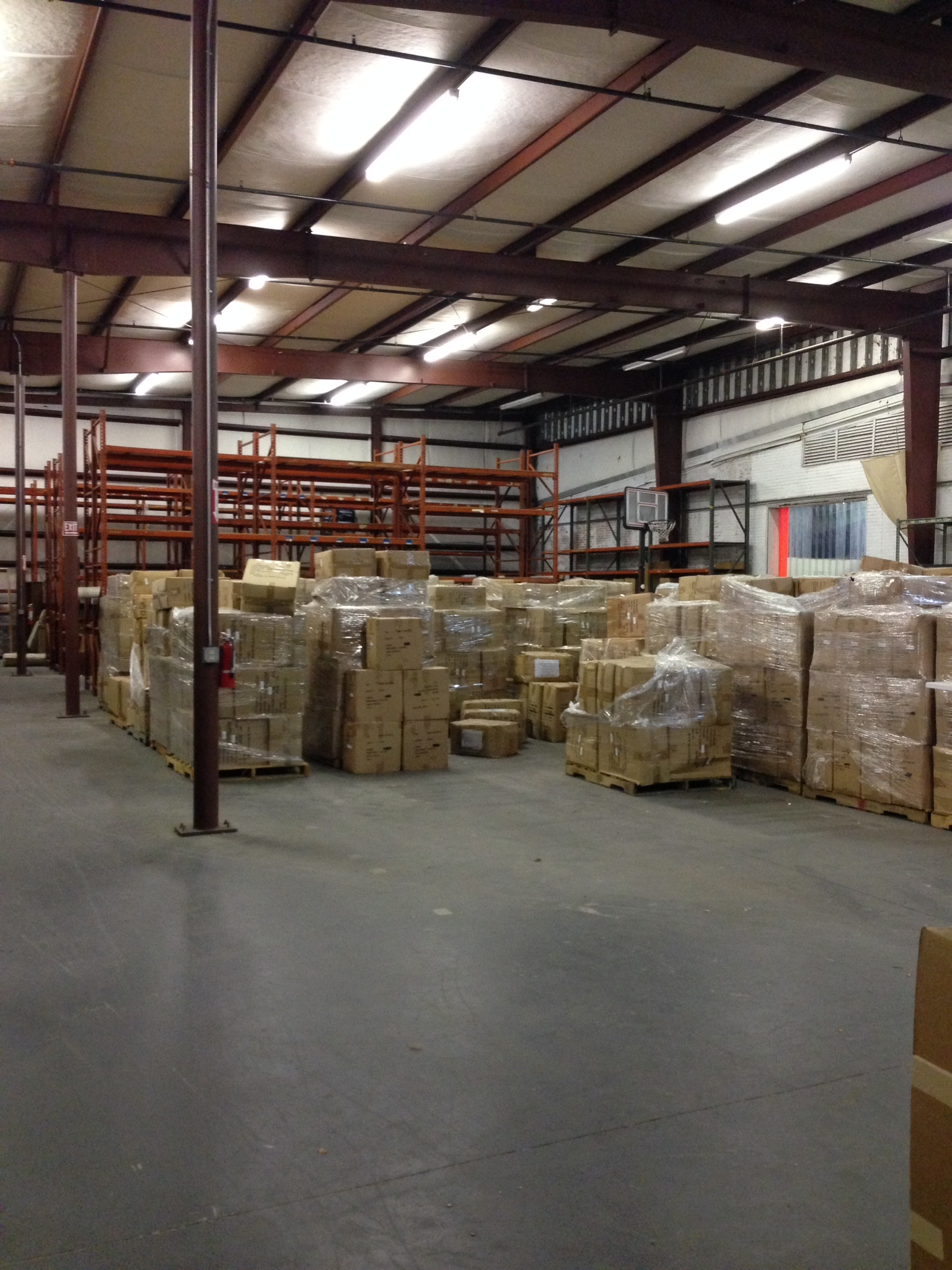 Warehouse space, August 2014