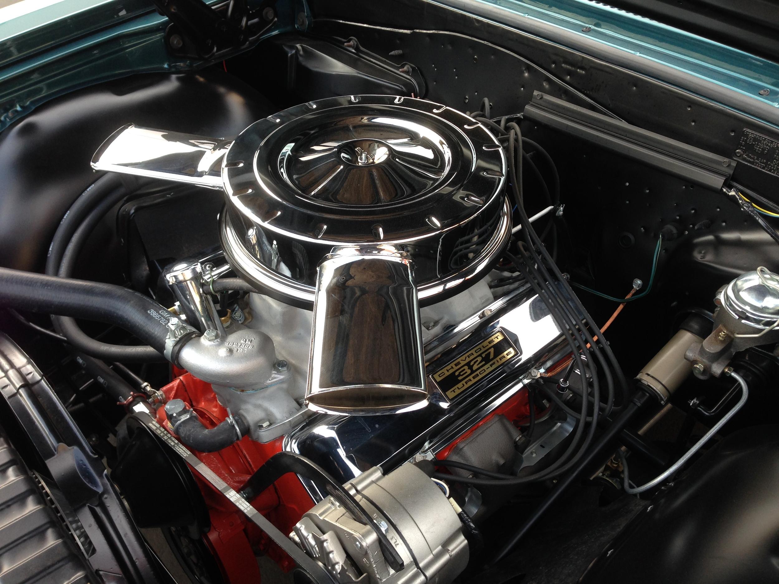 350 Horse 327 corvette motor, numbers matching.