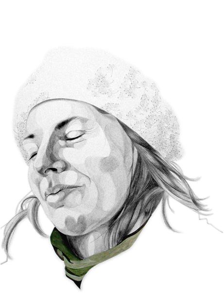 "Julianna | 2010 | Graphite and gouache on paper | 22"" x 30"""