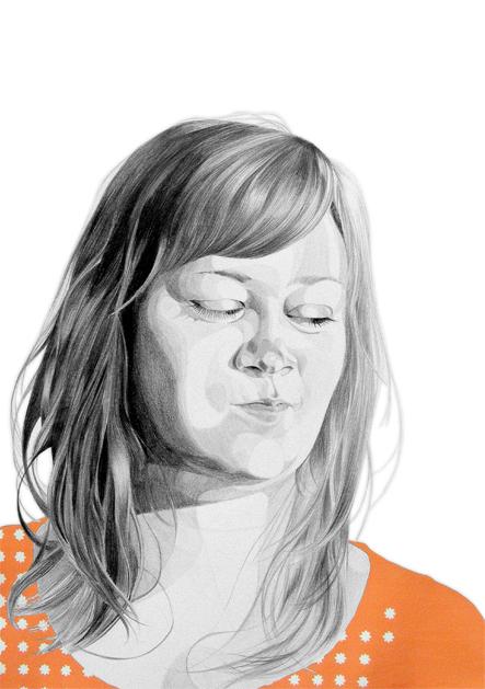 "Amanda | 2010 | Graphite and gouache on paper | 22"" x 30"""