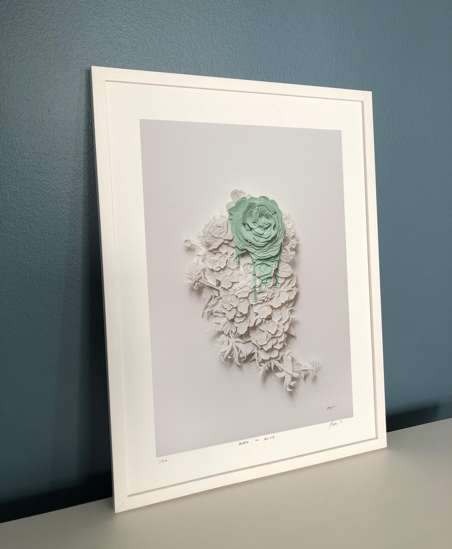 Bleed in Green Print in a 30 x 40cm frame