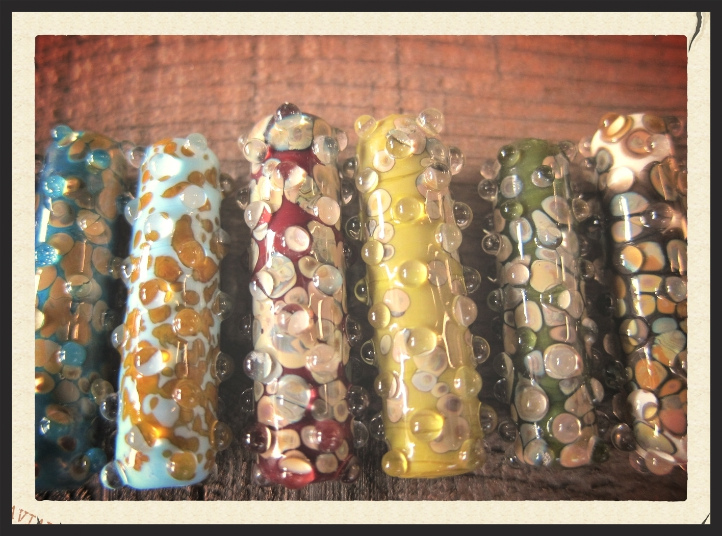 Samples of our Handmade Glass Beads